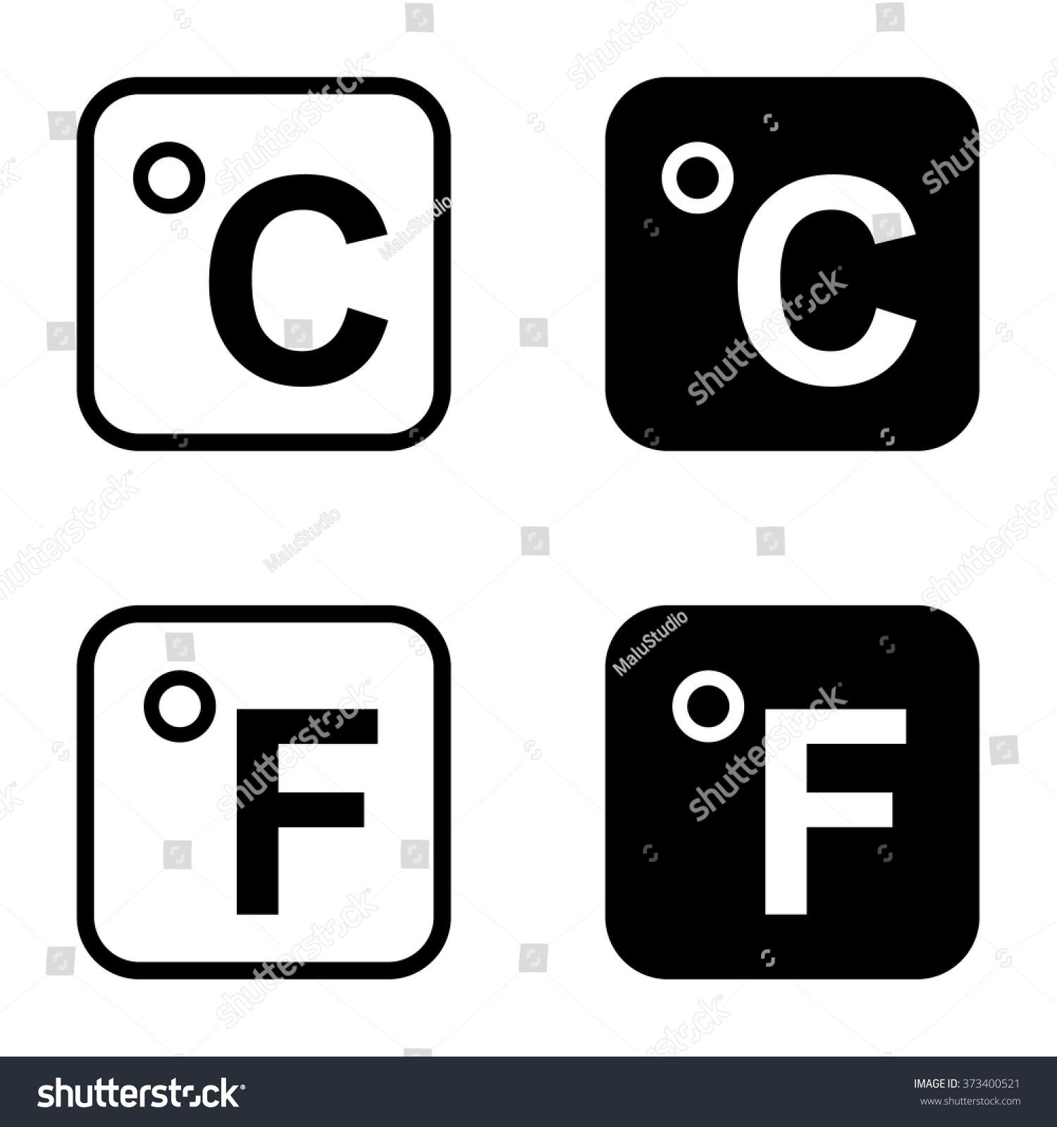 Celsius icon fahrenheit icon set vector stock vector 373400521 celsius icon and fahrenheit icon set vector illustration biocorpaavc Choice Image