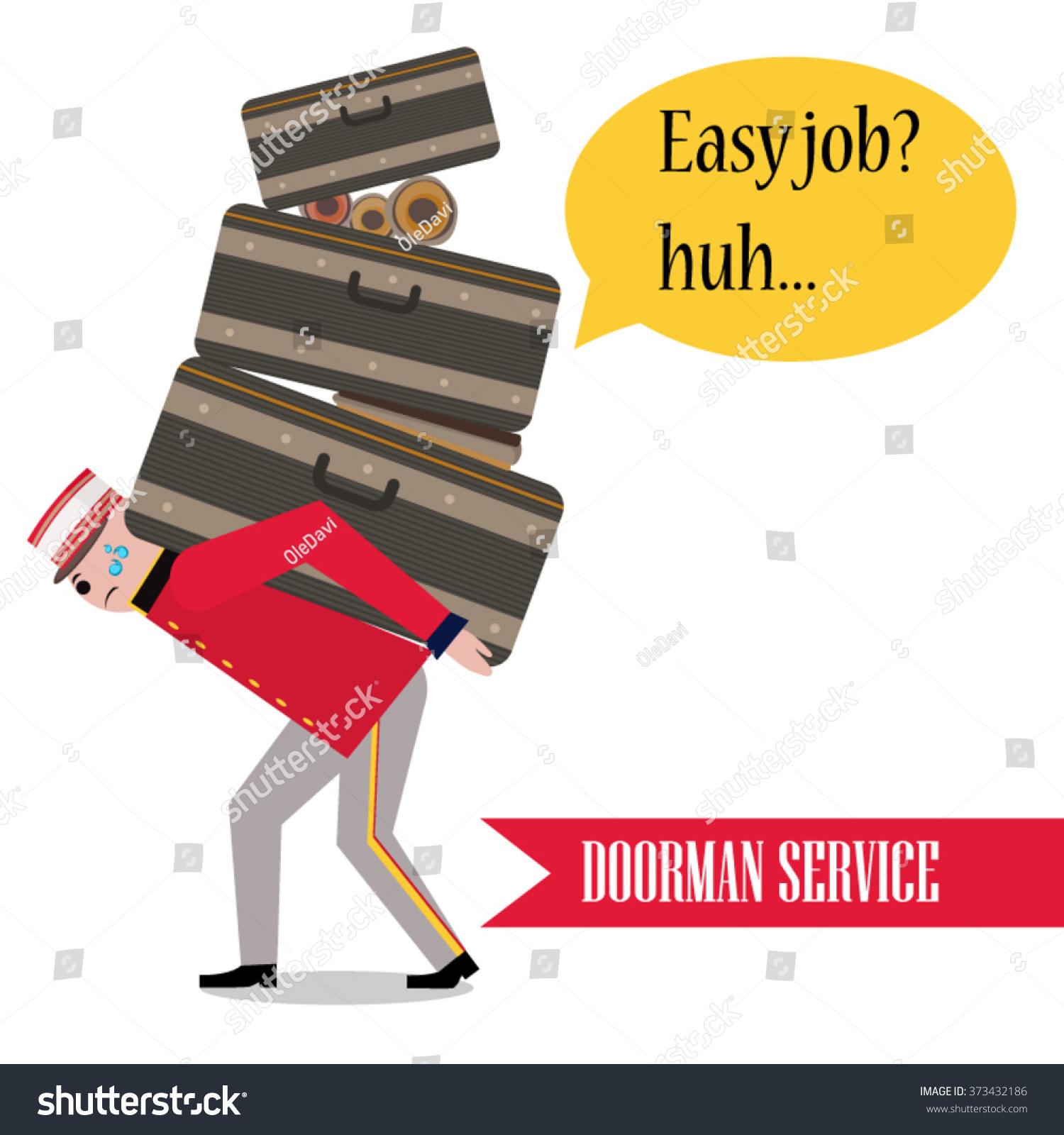 Porter baggage man carries bag friendly stock vector for Men a porter