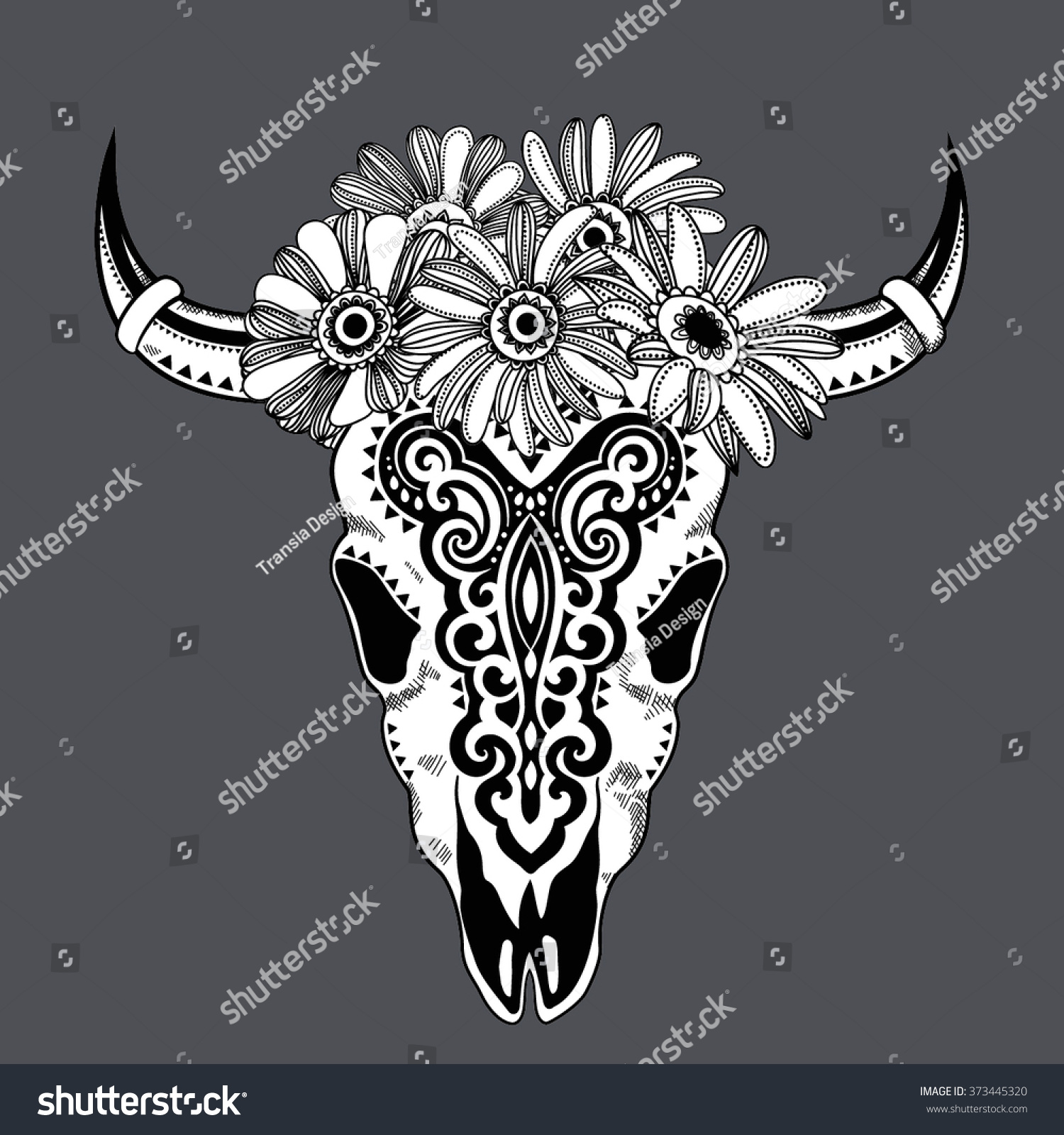 Animal tribal art