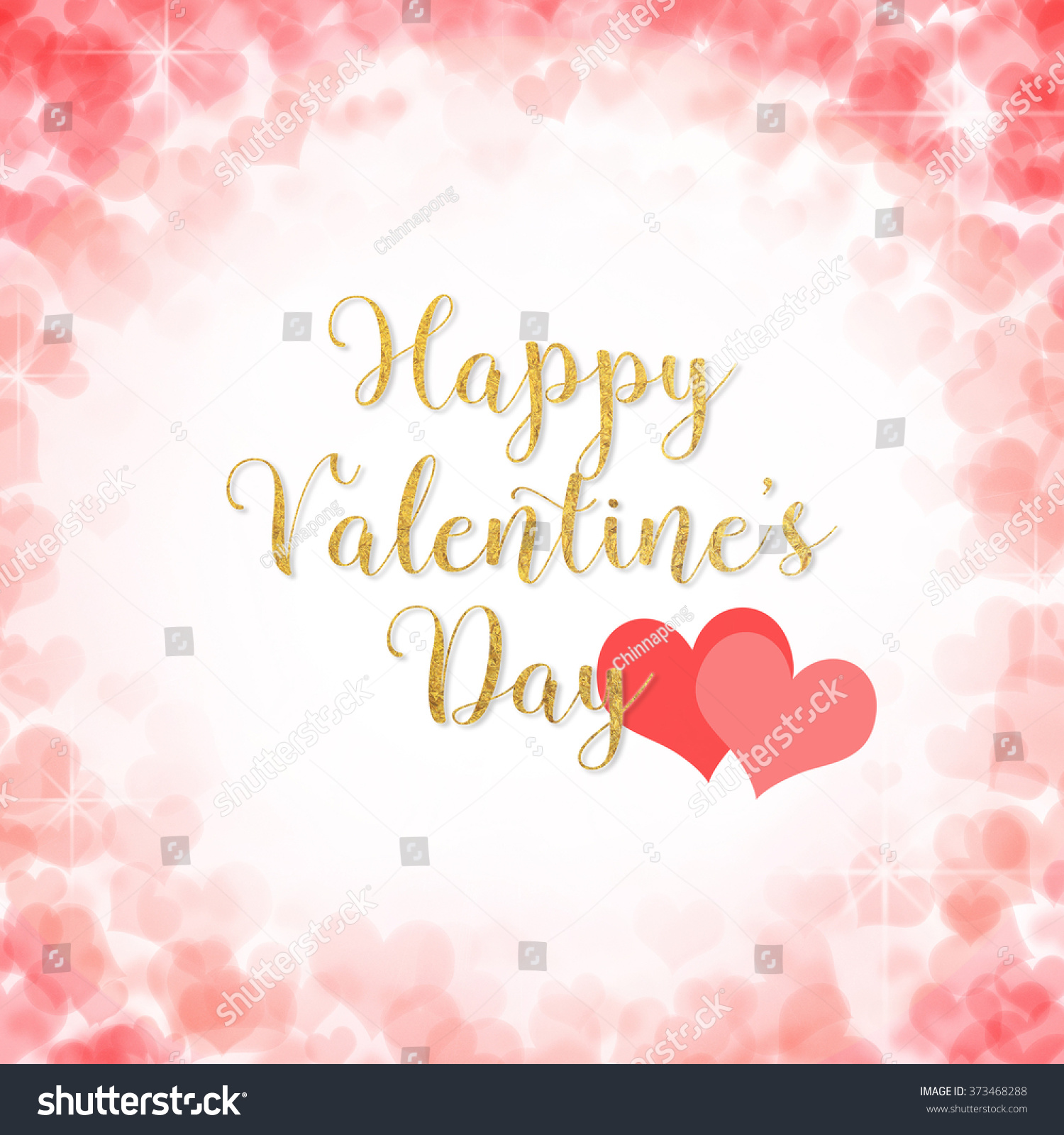 Happy Valentines Day Greeting Message Text Stock Illustration