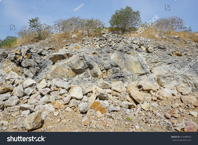 Limestone Mining Open Pit Mine Cambodia Stock Photo (Edit