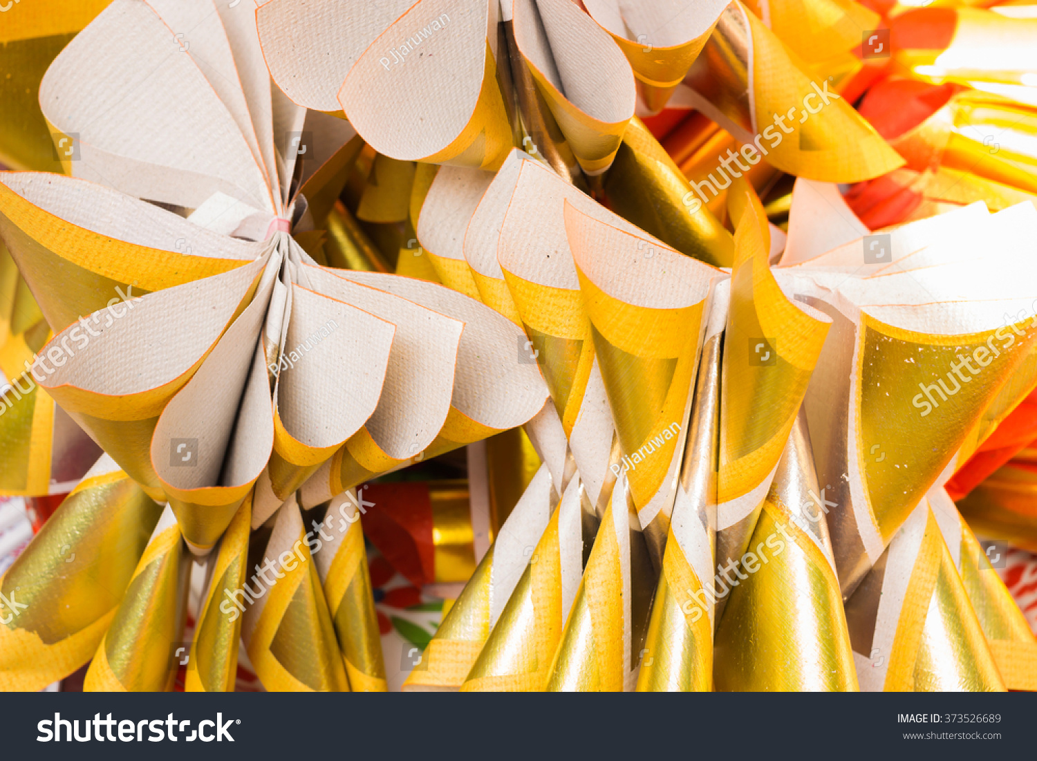 Joss Paper Chinese Tradition Silver Gold Paper Stock Photo Edit Now