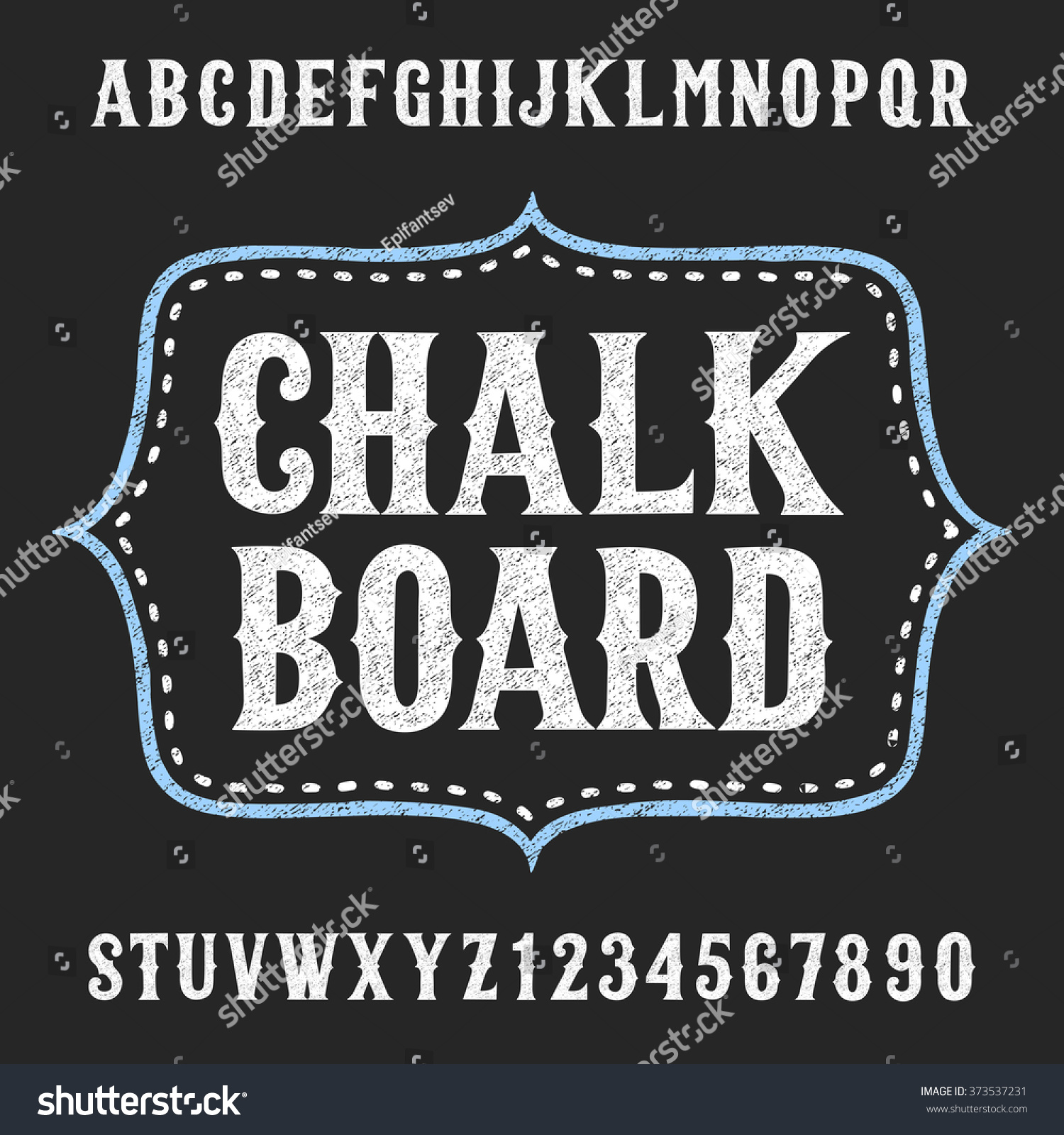 chalkboard alphabet font hand drawn letters stock vector royalty