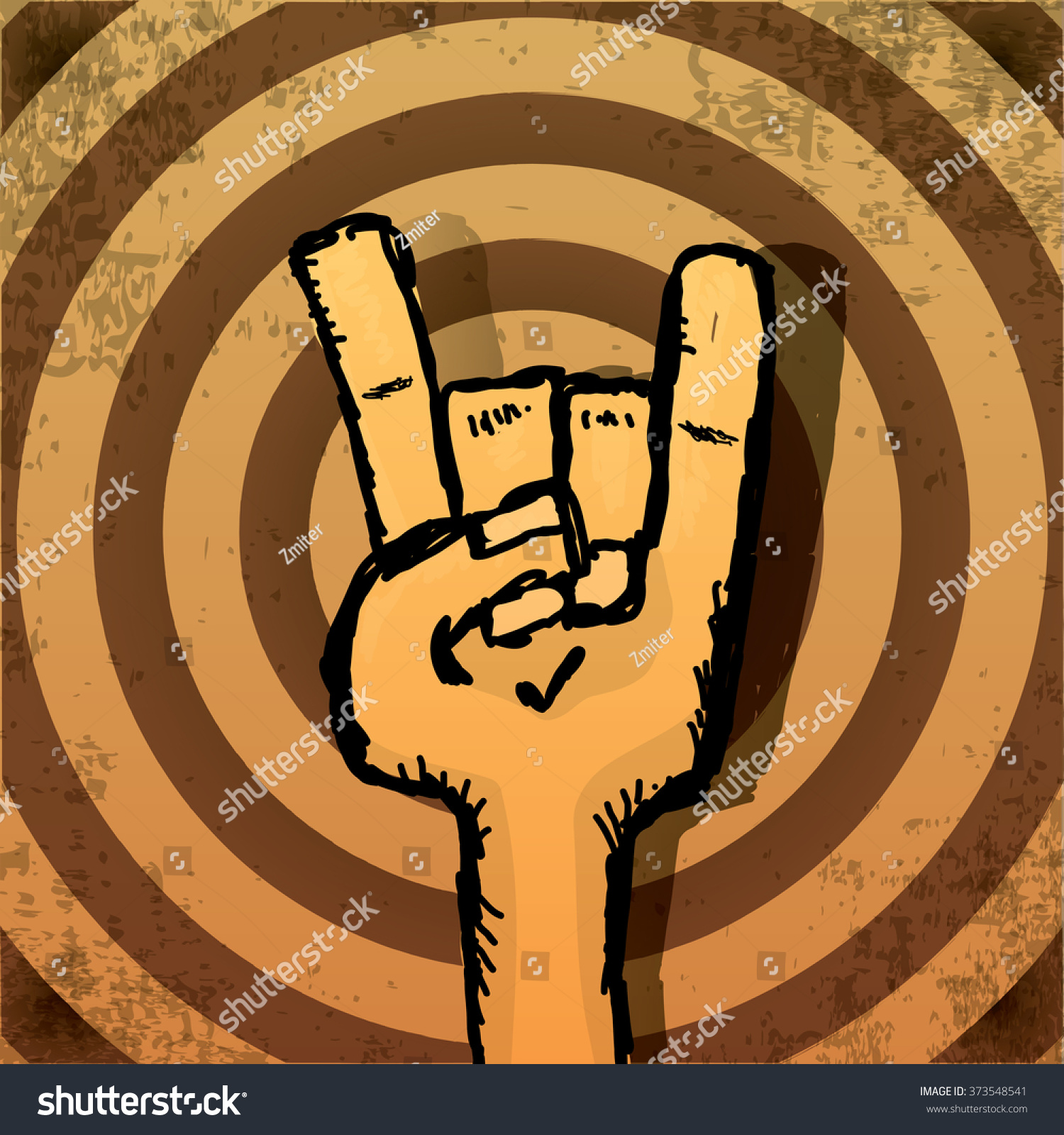 Rock n roll poster design - Vector Rock N Roll Music Background Rock N Roll Icon Vector Rock Concert Poster