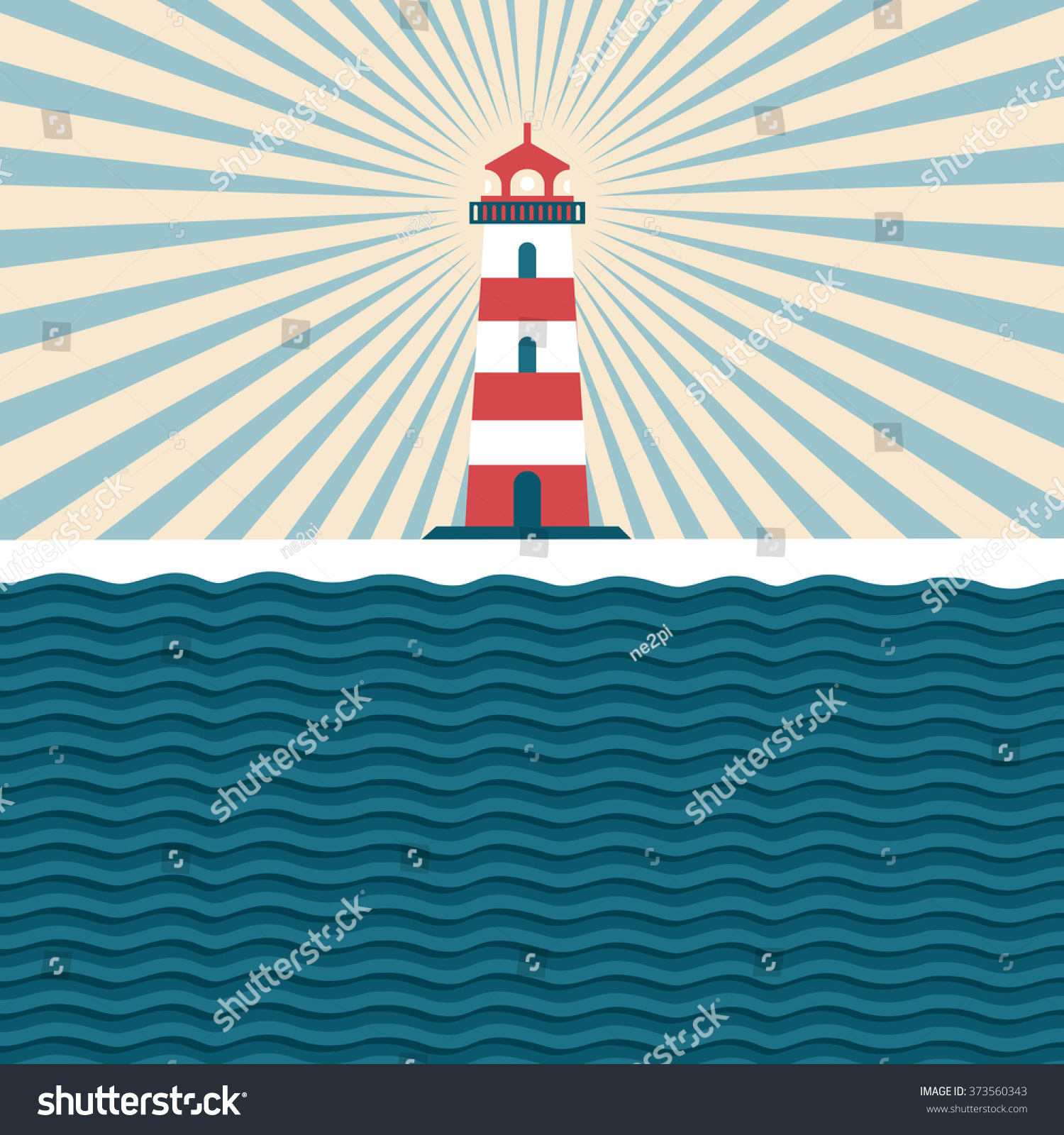 Lighthouse vintage illustration beacon flat style stock vector lighthouse vintage illustration with a beacon flat style design templates for greeting cards kristyandbryce Choice Image