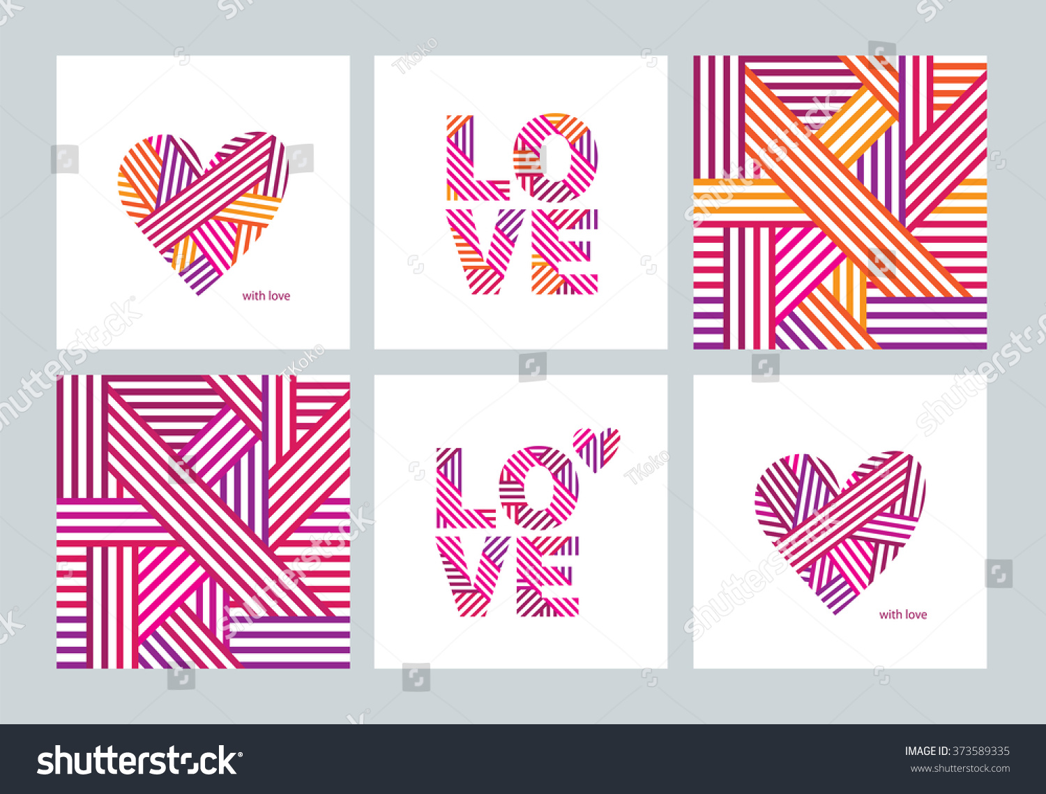 Set Greeting Cards Valentines Day Mothers Stock Vector Royalty Free