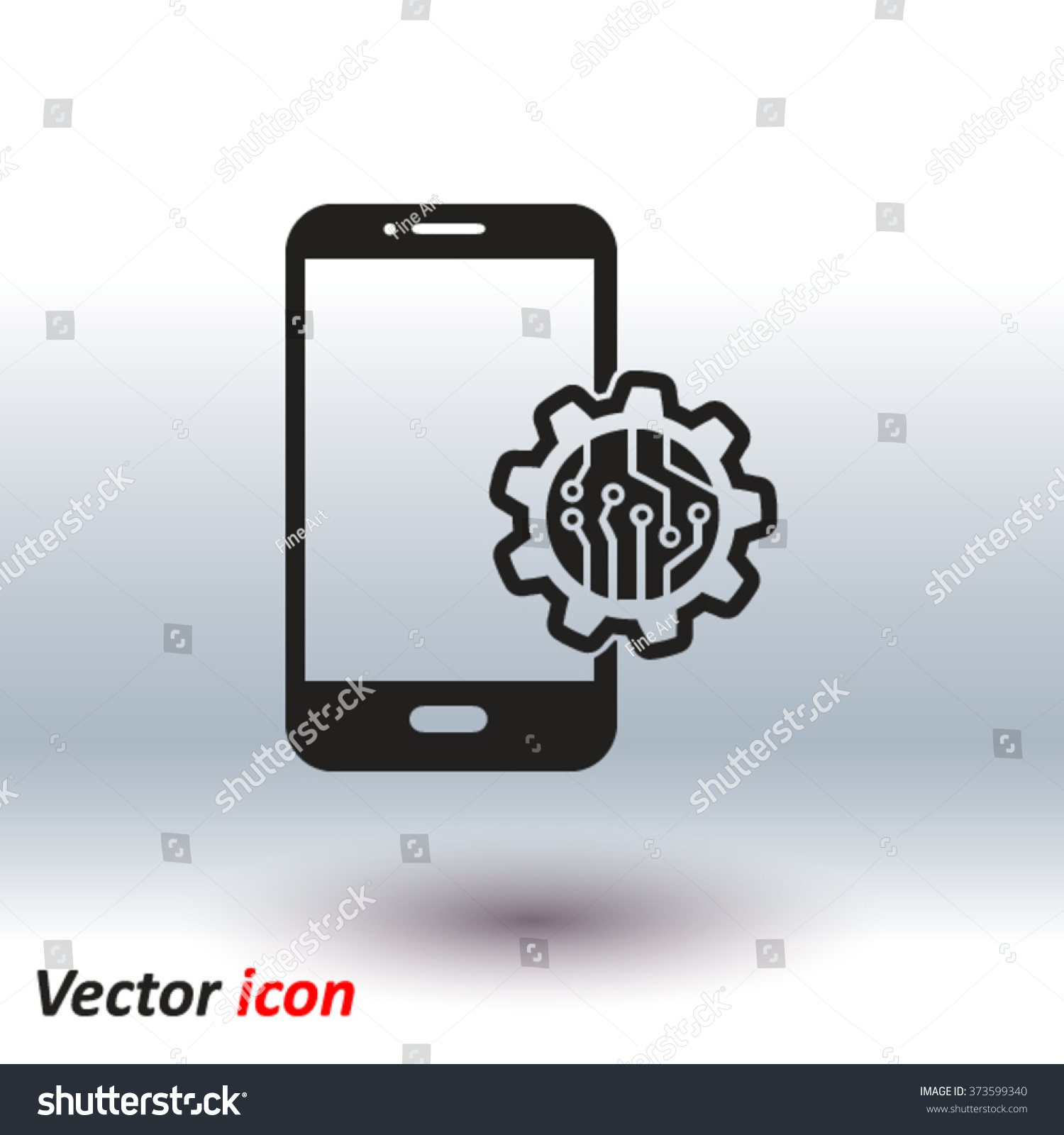 Electronic Circuit Technological Device Technology Scheme Stock Symbols Vector Of Square Symbol