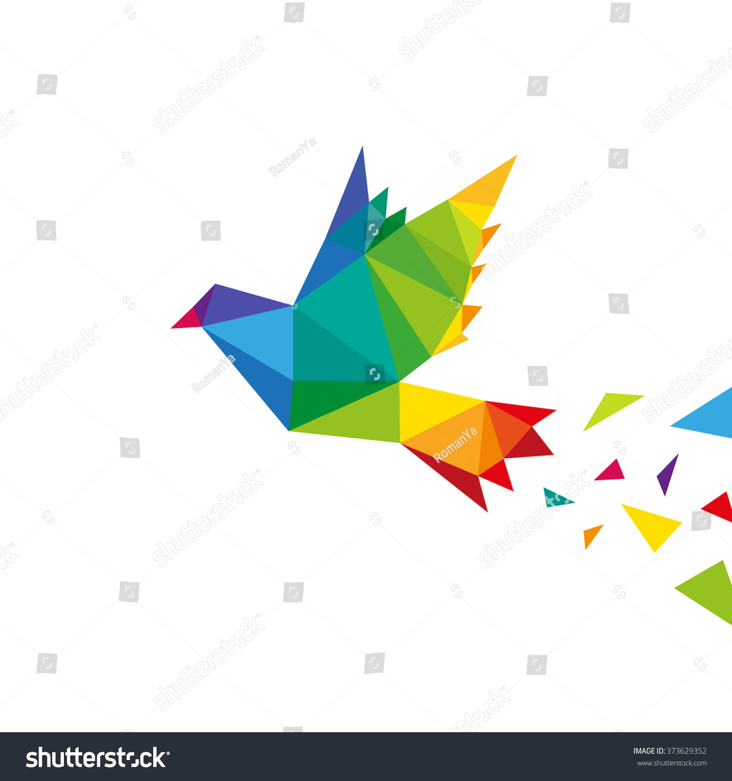 Bird abstract triangle design concept element stock vector for Triangle concept architecture