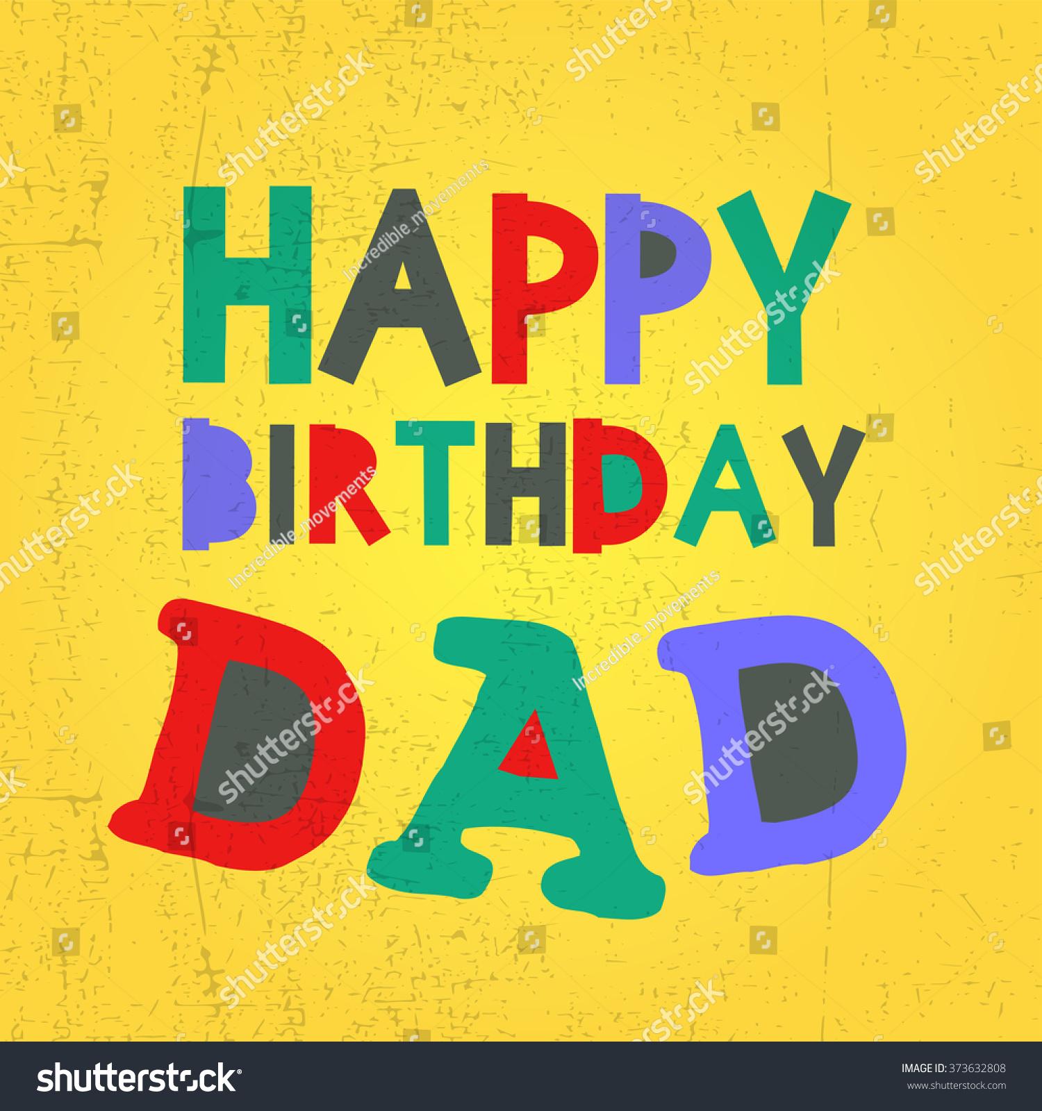 Retro Happy Birthday Card Grunge Stock Vector