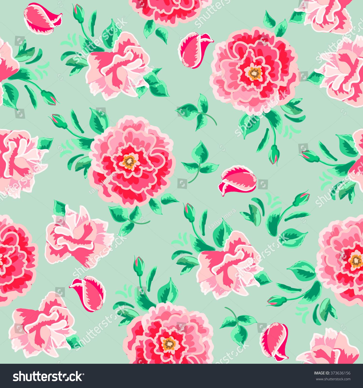 Floral Print Desktop Background
