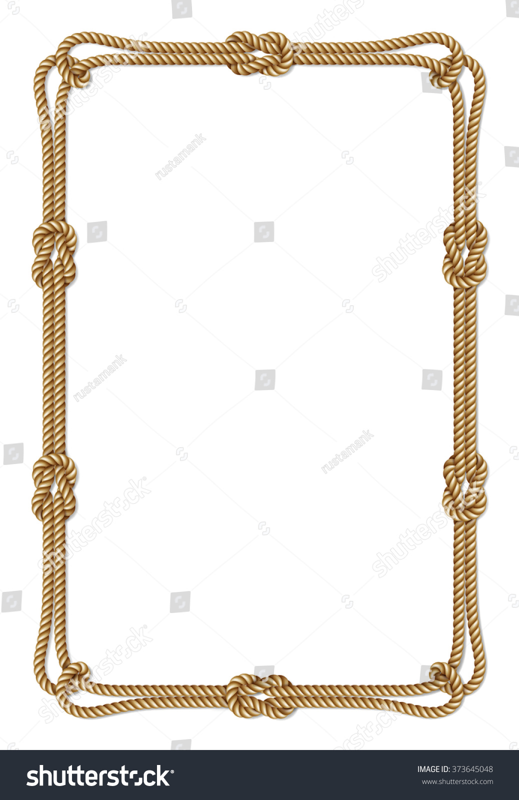 yellow rope woven vector border rope stock vector