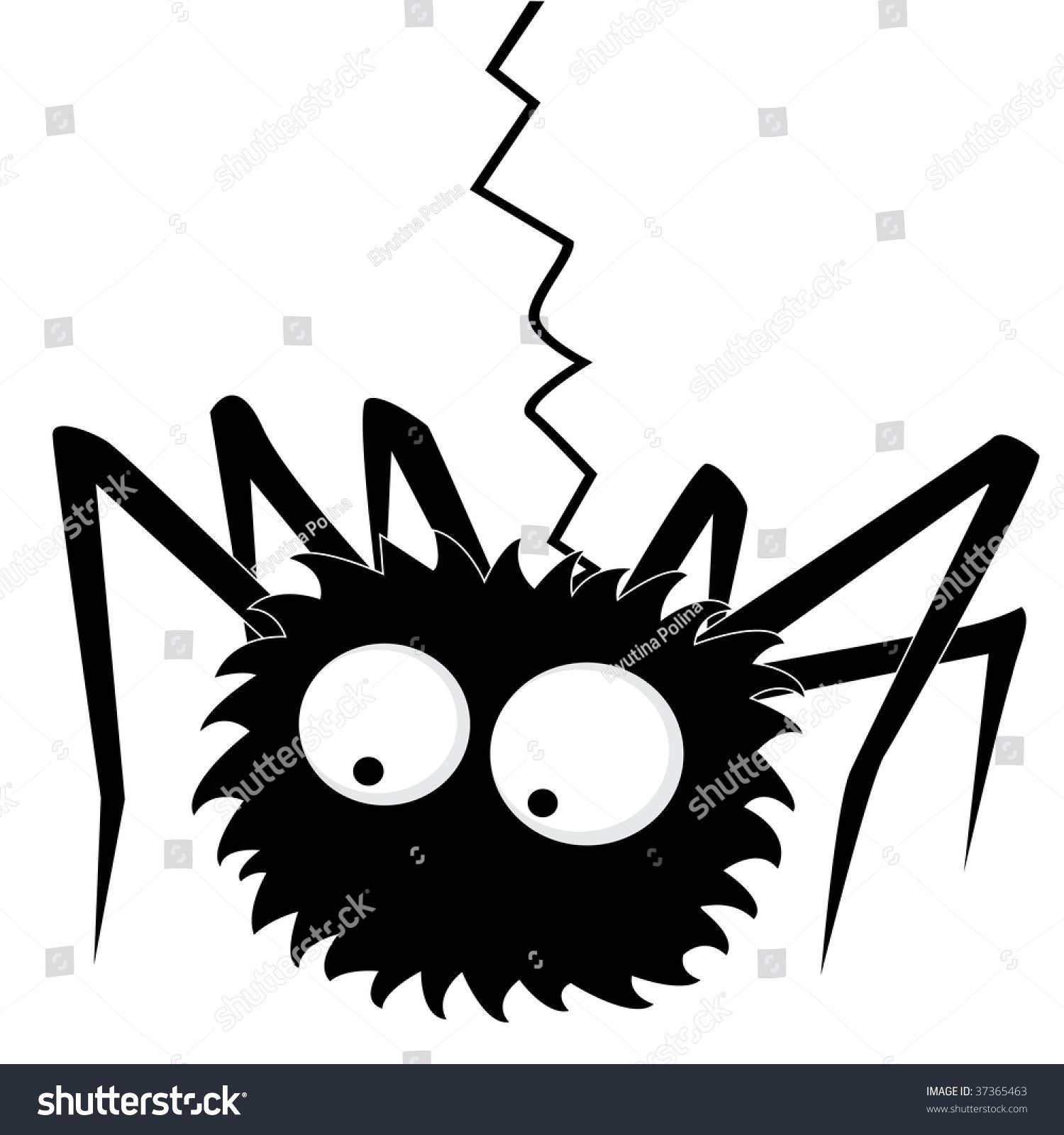 Black Halloween Spider Stock Vector 37365463 - Shutterstock