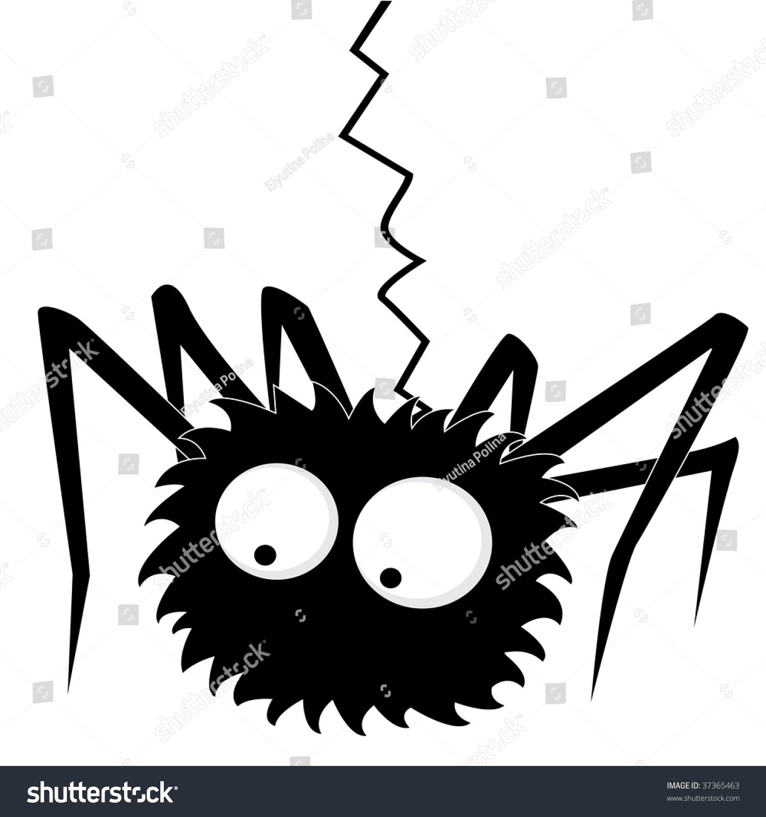 Black halloween spider Vista previa