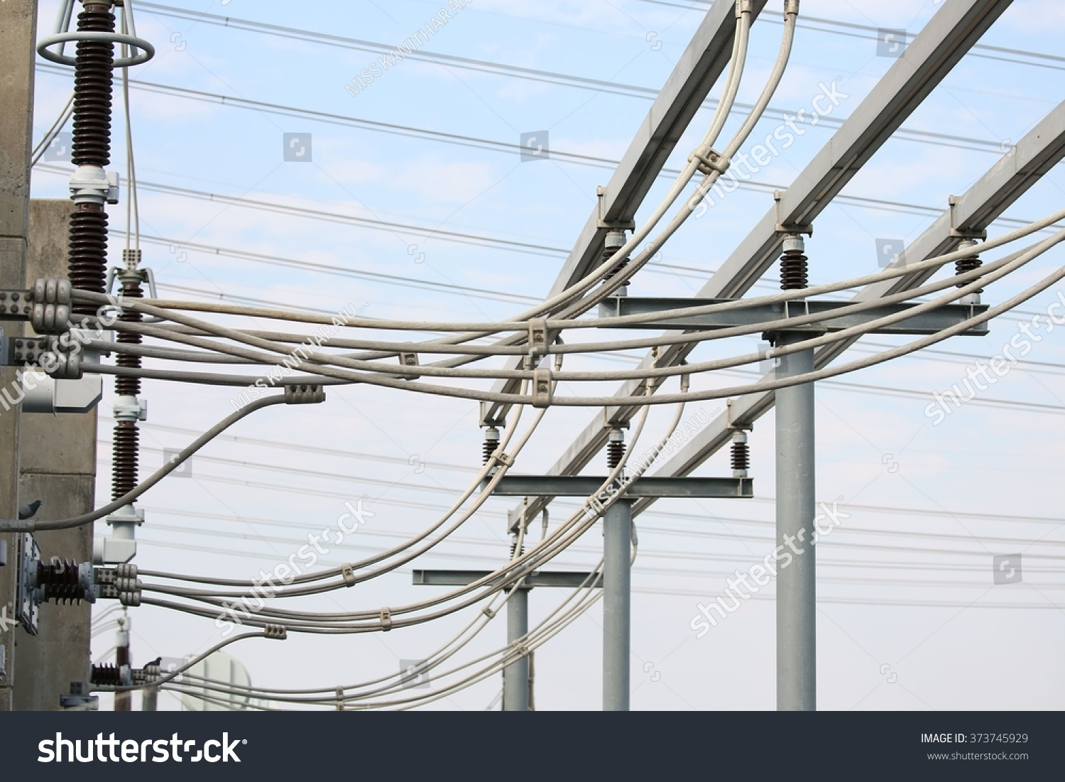 Gas Insulated Switchgear Outdoor Electrical Equipment Stock Photo Wiring And Its Under Construction
