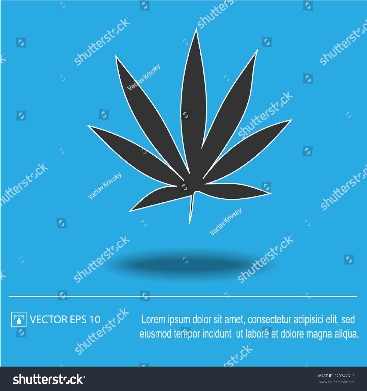 Marijuana leaf vector icon cannabis weed stock vector 373747513 marijuana leaf vector icon cannabis weed symbol vector illustration eps 10 biocorpaavc