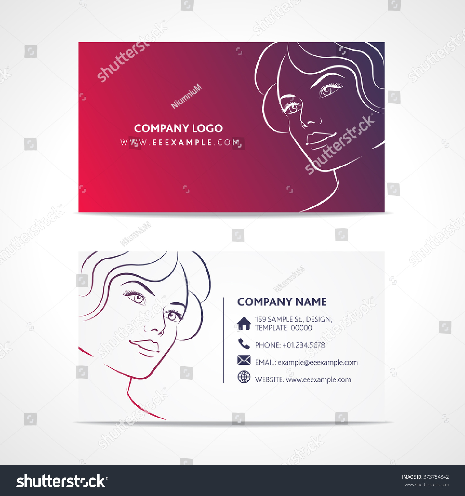 Business Card Templates Fashion. Fashion Business Cards 21200 ...
