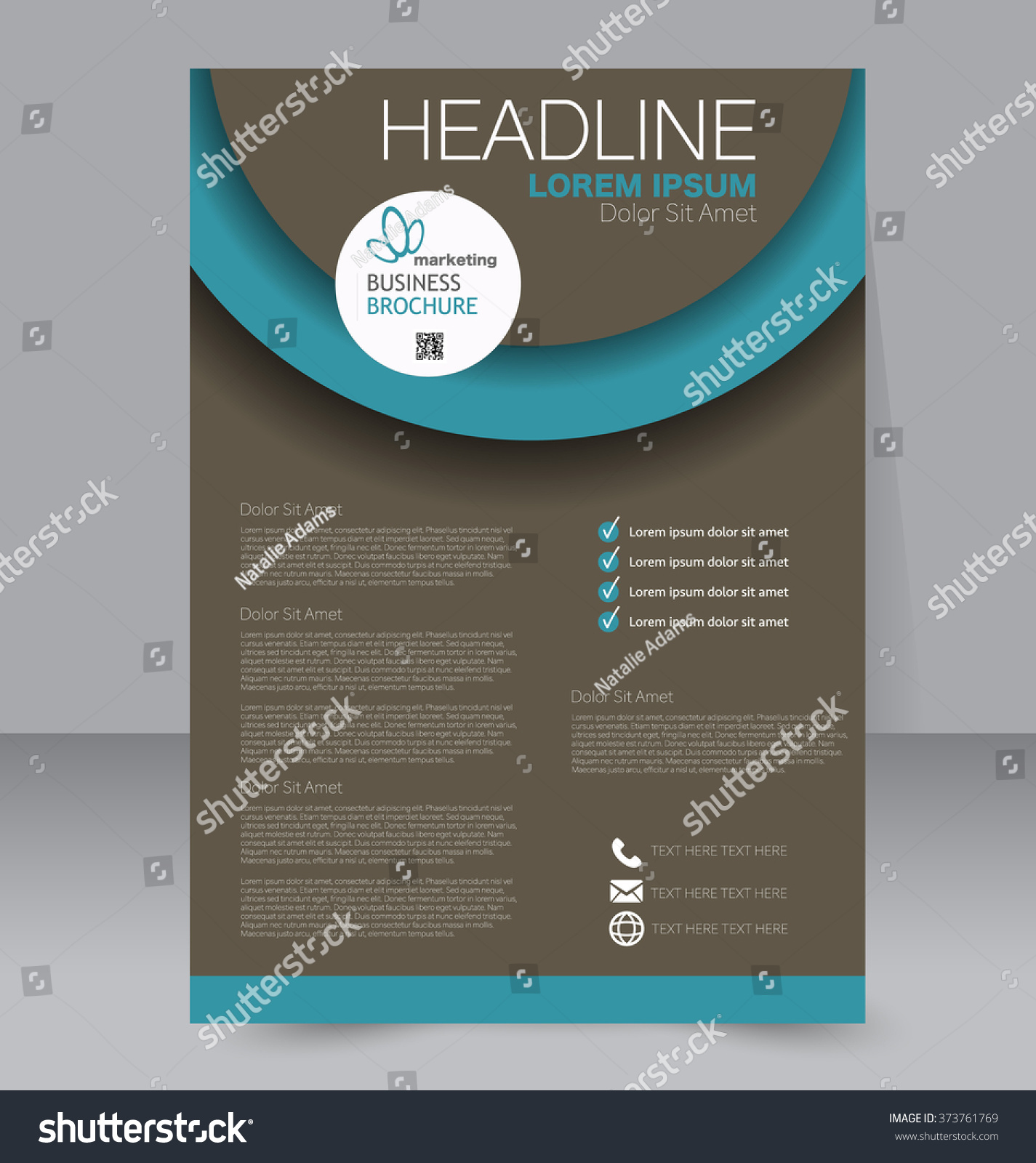 Abstract Flyer Design Background Brochure Template Stock Vector