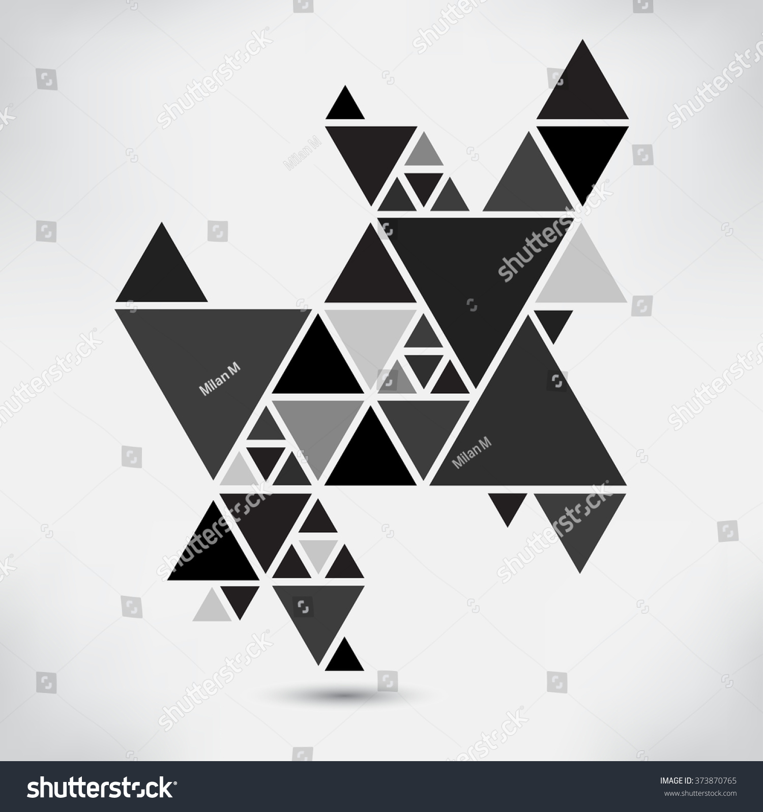Abstract geometric backgroundvector triangle background for Triangle concept architecture