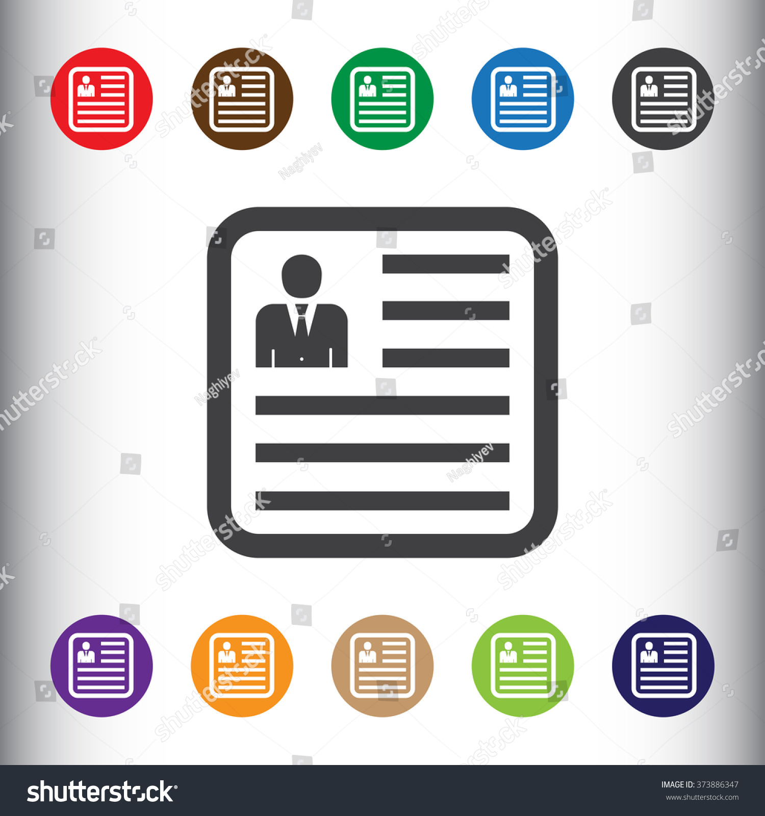 cv resume icon for web and mobile stock photo 373886347