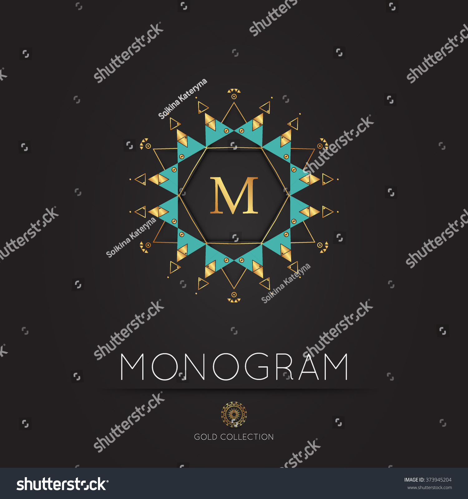 Royal Modern Monogram Logo Vector Template Stock Vector 373945204 ...