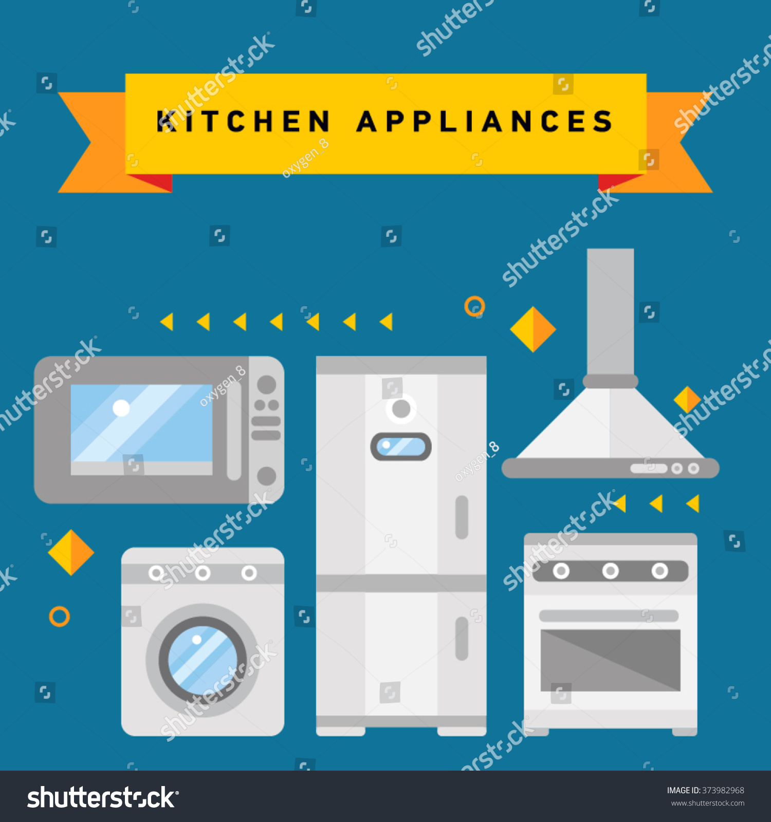 Smart Home Appliances Internet Things Consumer Stock Vector (Royalty ...