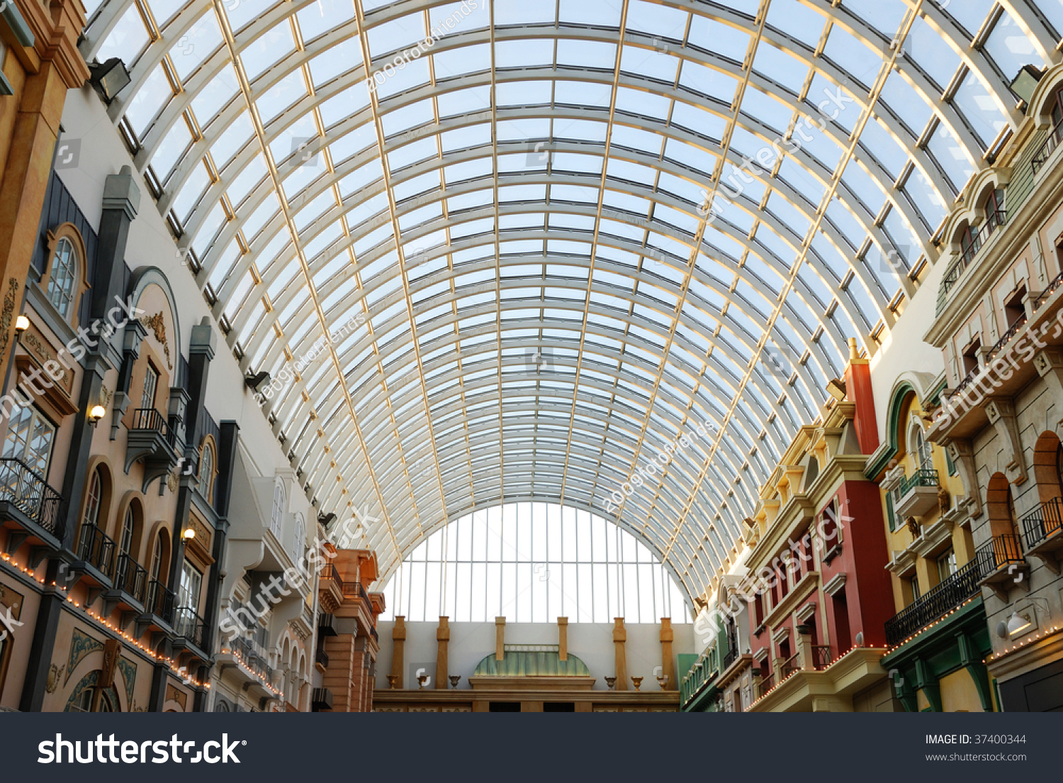 Glass Roof Structure In West Edmonton Mall ( The Largest Indoor Shopping  Mall In North America