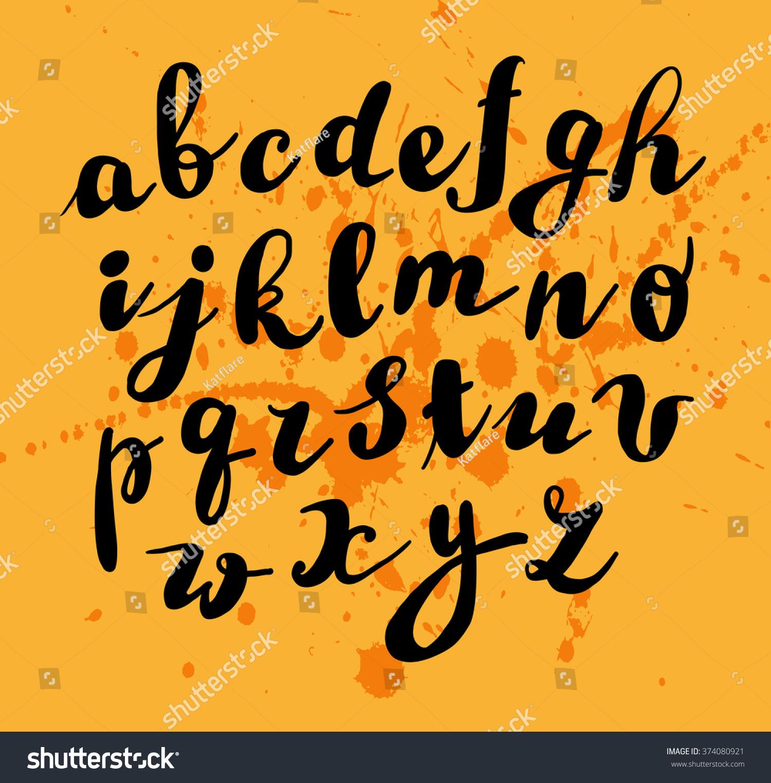 hand written font lettering cute hand stock vector