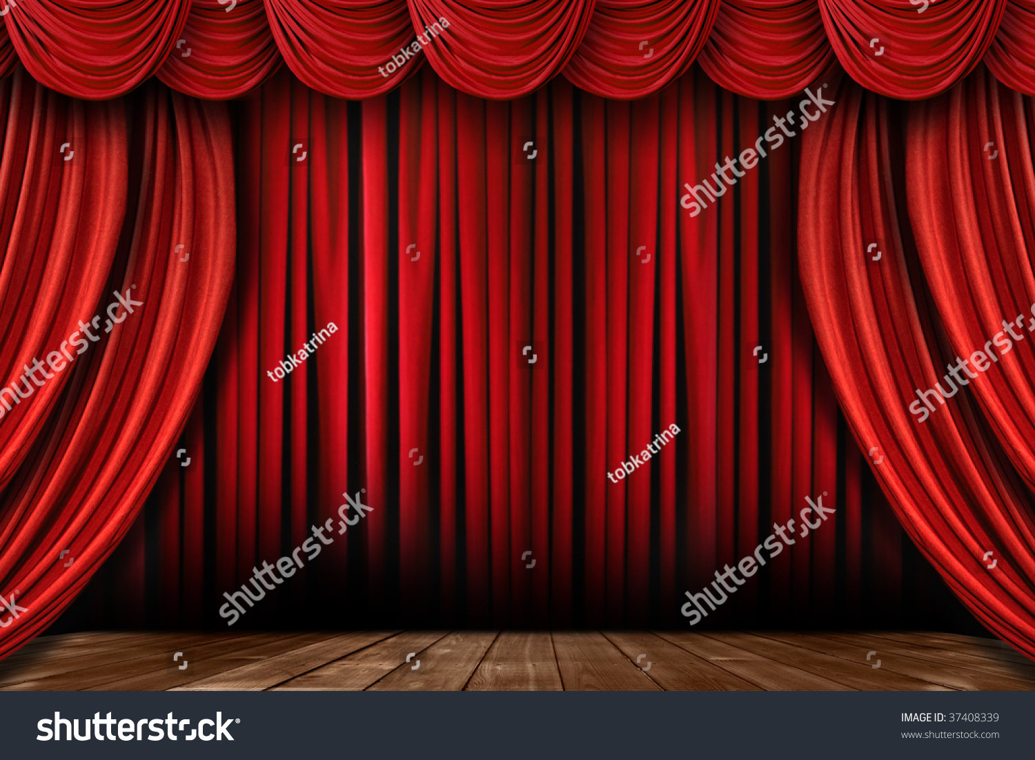 Stock photo dramatic red old fashioned elegant theater stage stock - Dramatic Bright Red Stage Drapes With Many Swags Preview Save To A Lightbox Find Similar Images Share
