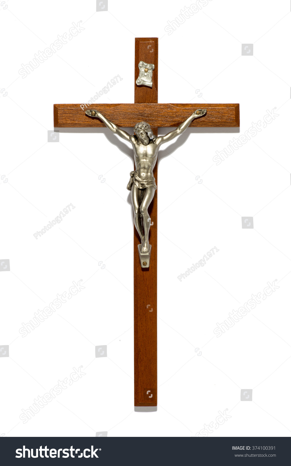Plain wooden crucifix silver figure christ stock photo 374100391 plain wooden crucifix with silver figure of christ a religious and spiritual symbol of the biocorpaavc