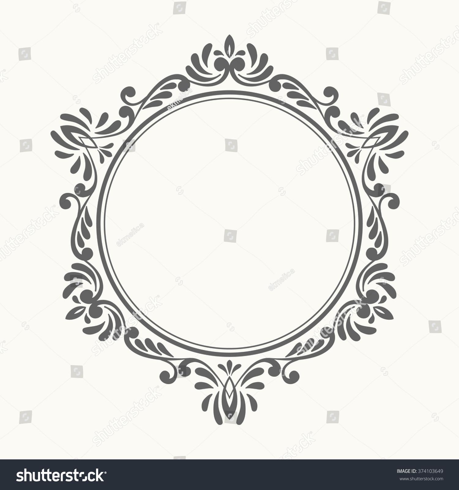 Elegant Luxury Retro Floral Frame Design Stock Vector 374103649 ...