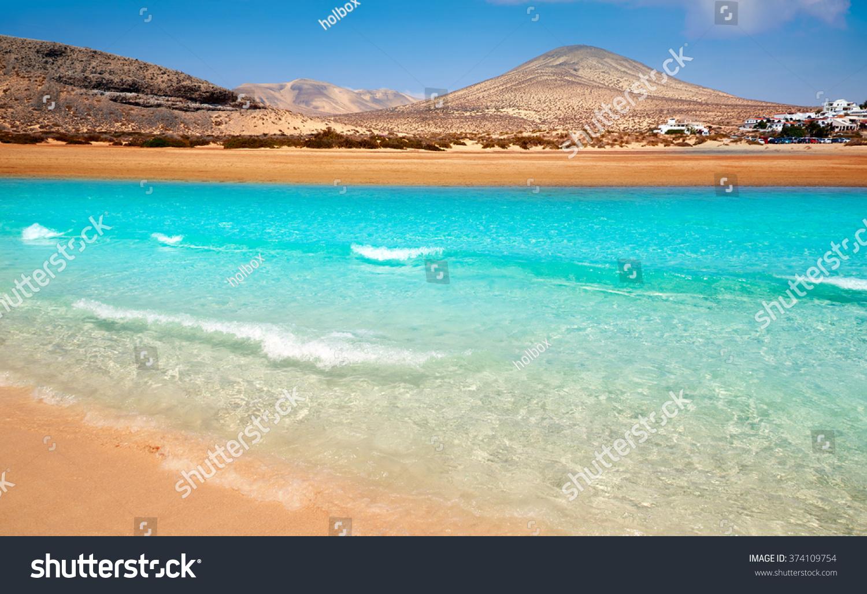 Jandia beach Risco el Paso Fuerteventura at Canary Islands of Spain #374109754