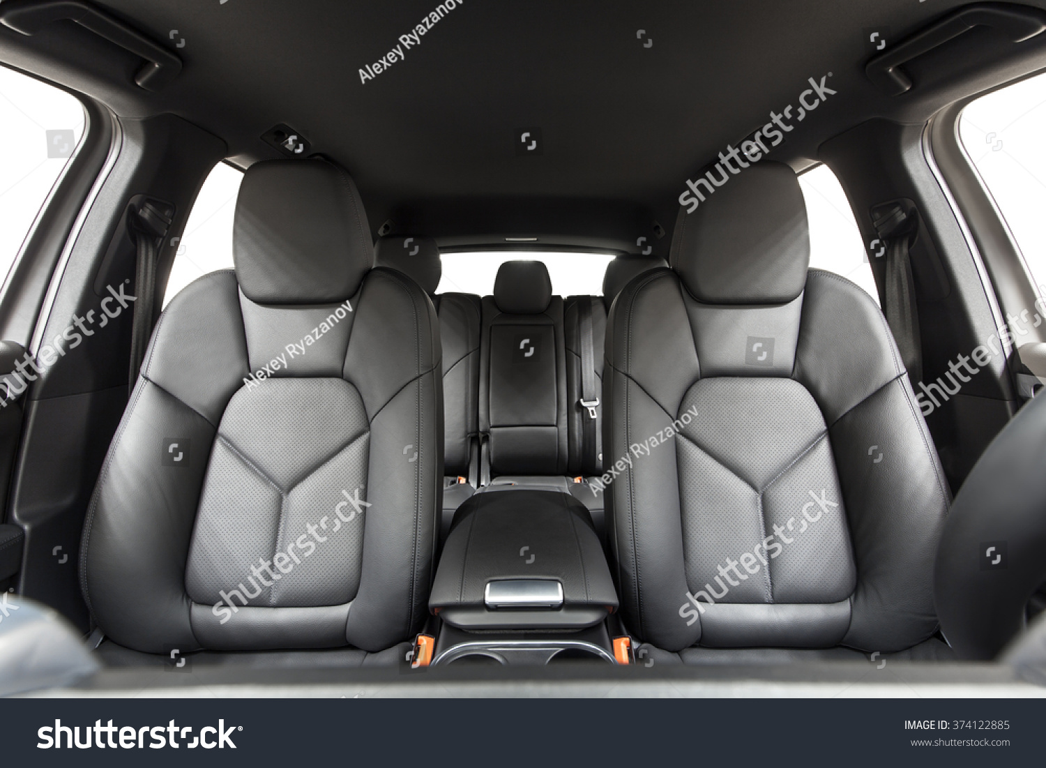 car inside interior prestige modern car stock photo 374122885 shutterstock. Black Bedroom Furniture Sets. Home Design Ideas