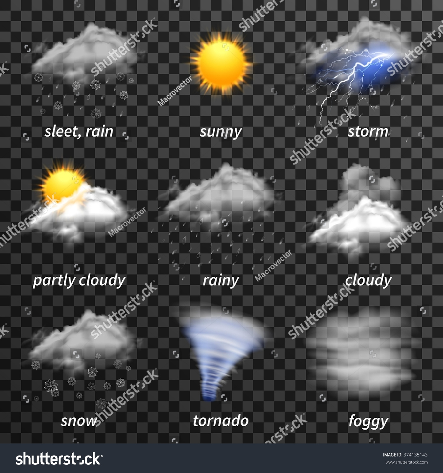 Rainy Weather Icons