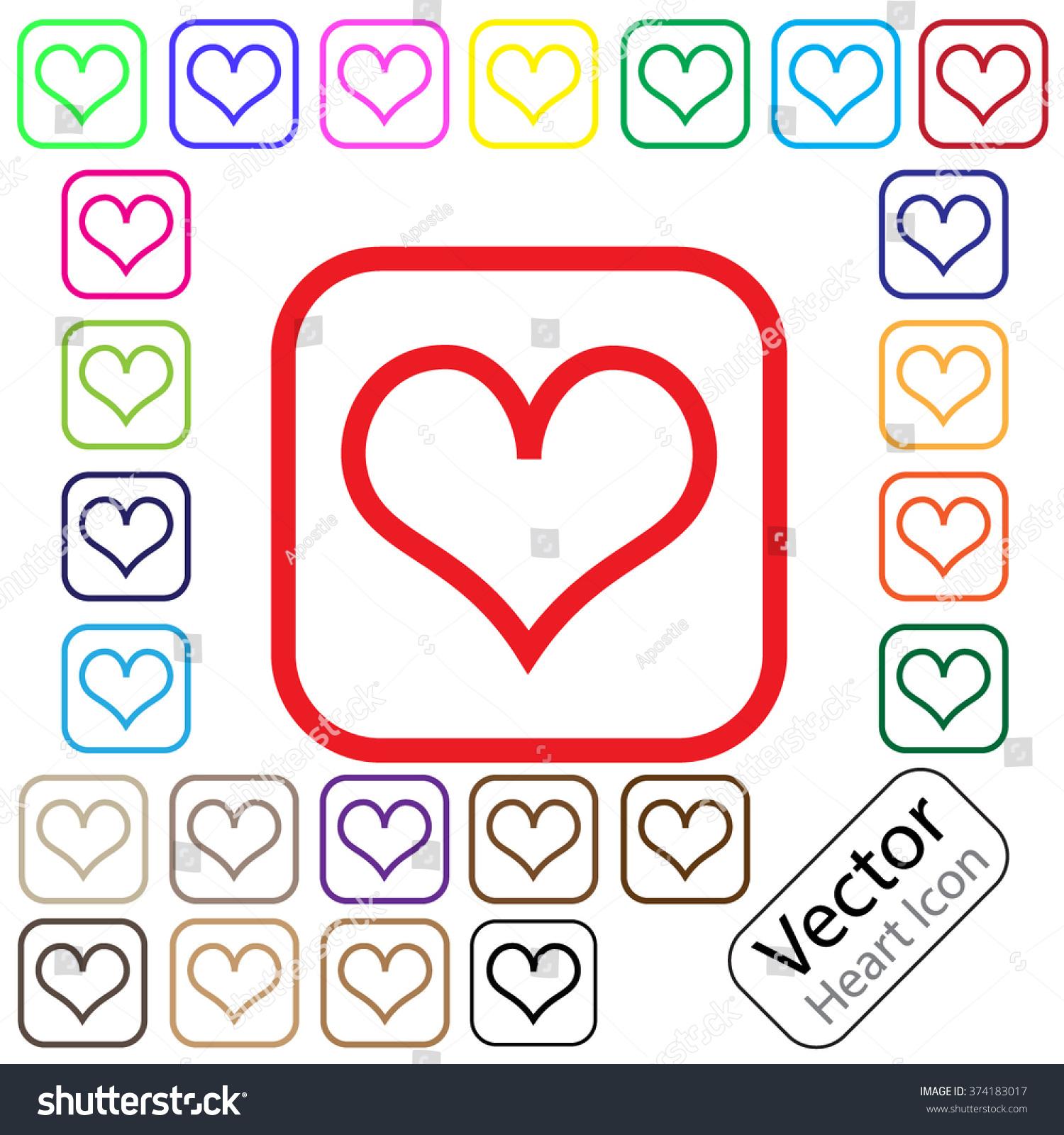 Human heart icons signs symbols love stock vector 374183017 human heart icons signs or symbols for love simple vector graphic this buycottarizona Choice Image