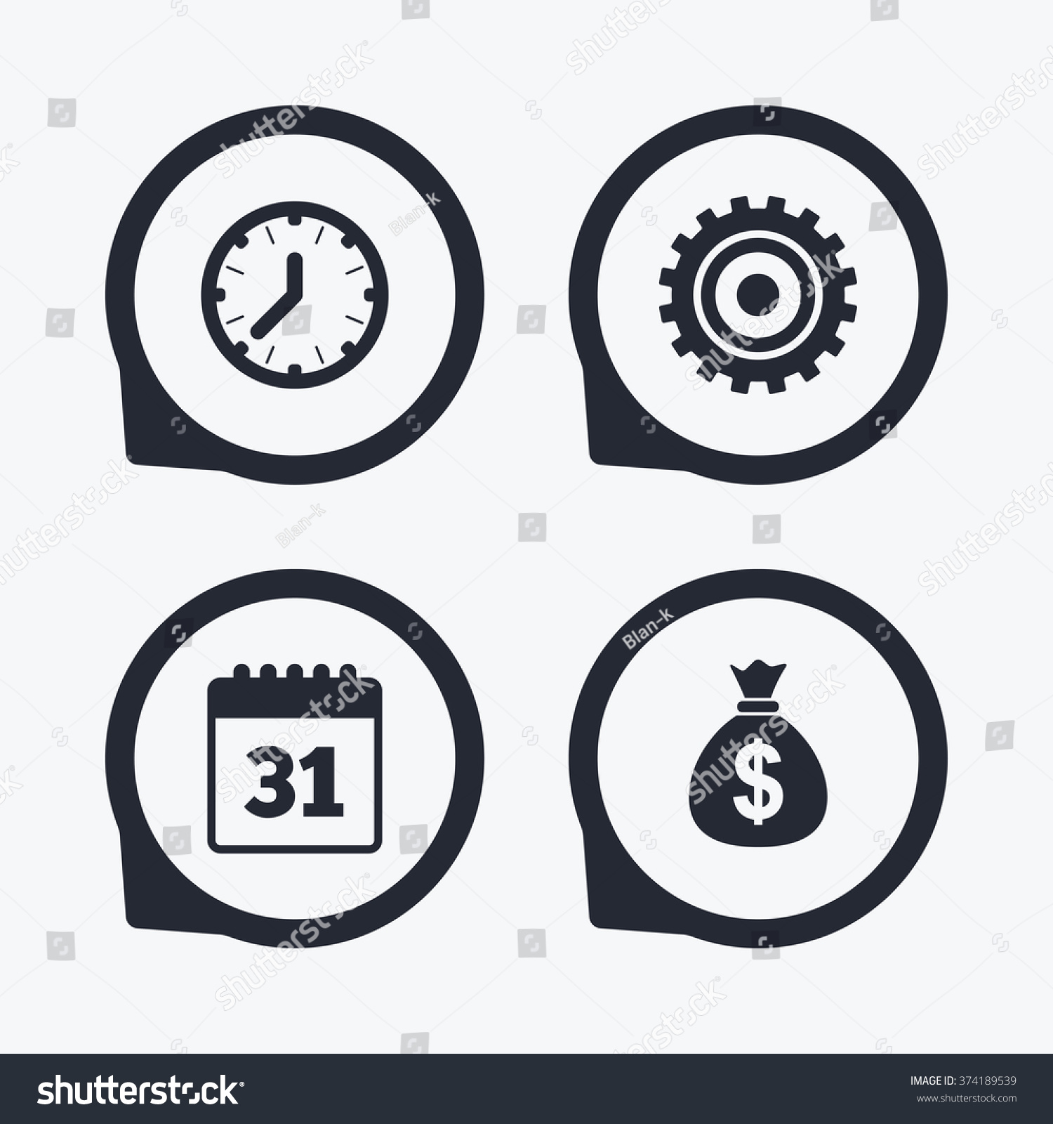 Chinese Mechanical Clock Symbol