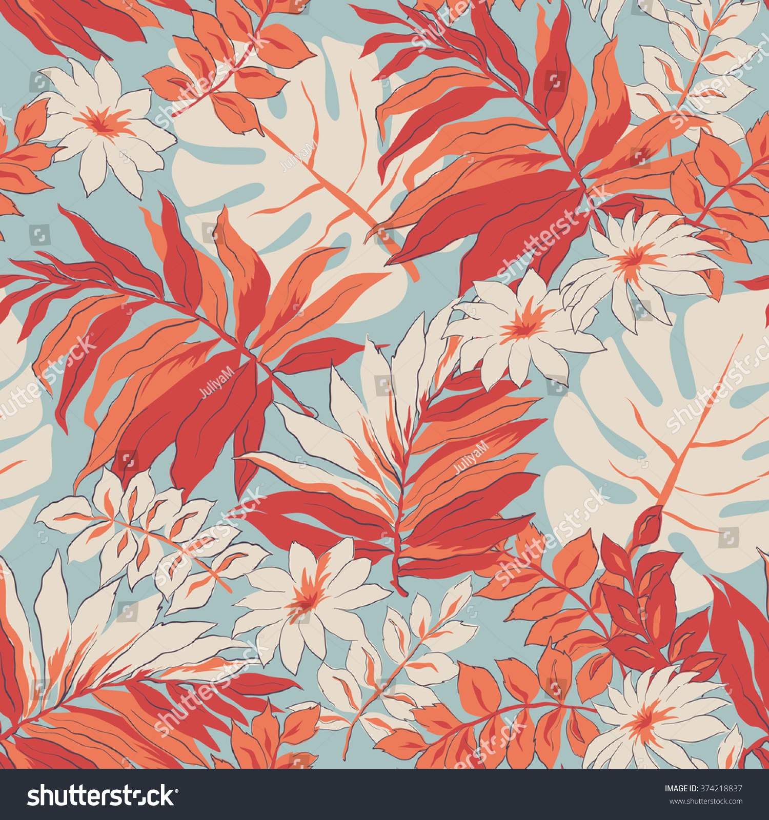 Tropical Leaves Print Background Beautiful Seamless Stock Vector Royalty Free 374218837 In this post we gather a wonderful vintage collection of hawaiian tropical leaf prints including <p>you might already have notice the raise of all type of palm trees, tropical leaf prints and. https www shutterstock com image vector tropical leaves print background beautiful seamless 374218837