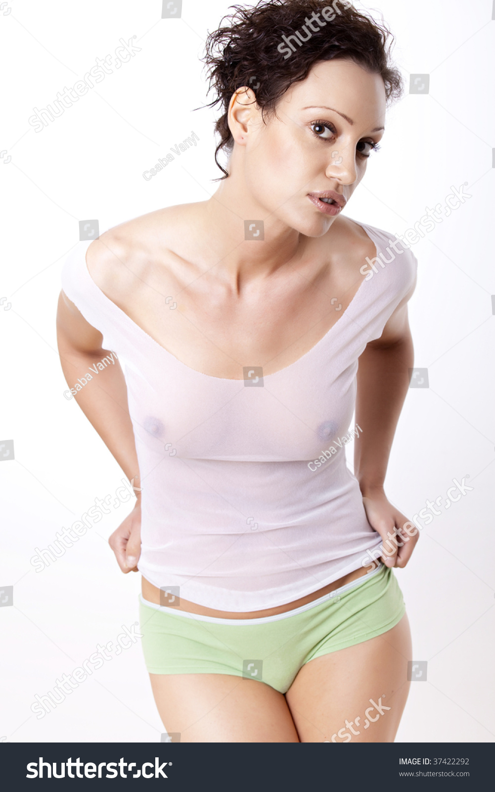 512f815f5 Young Beautiful Woman Wearing Green Panties Stock Photo (Edit Now ...