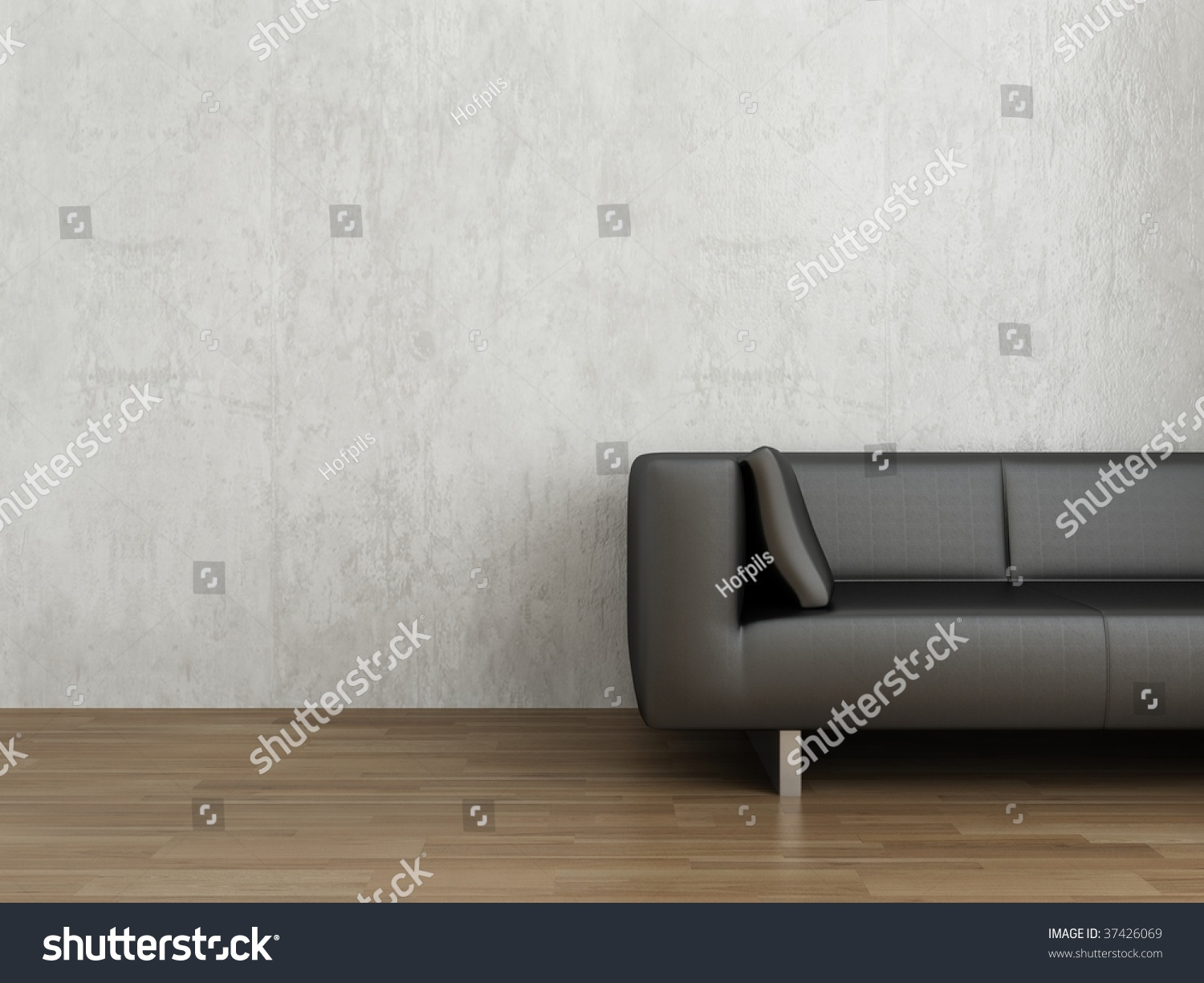 Cool Black Leather Couch Face Blank White Stock Photo Edit Now Machost Co Dining Chair Design Ideas Machostcouk