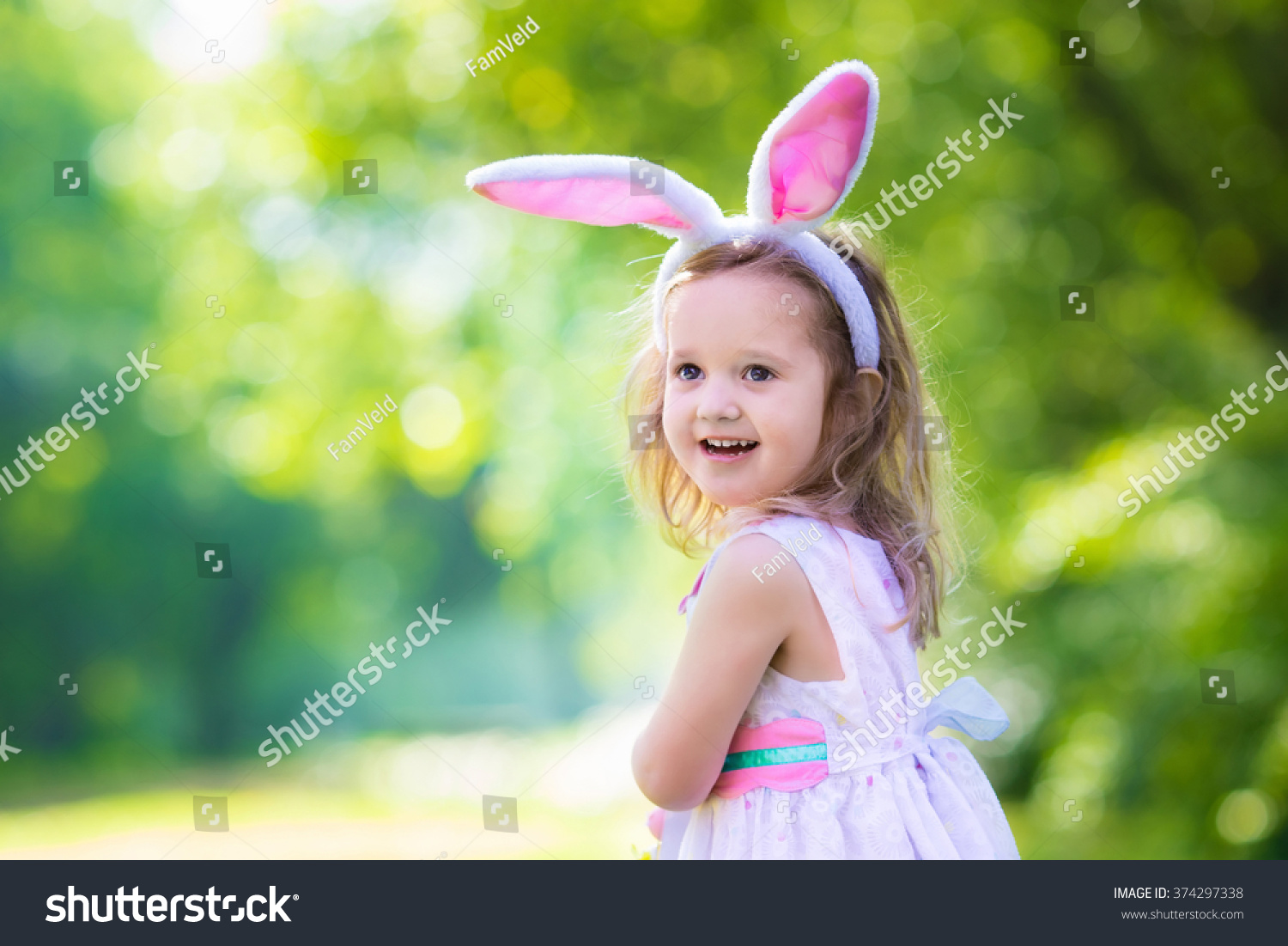 Little Girl Having Fun On Easter Stock Photo Edit Now 374297338
