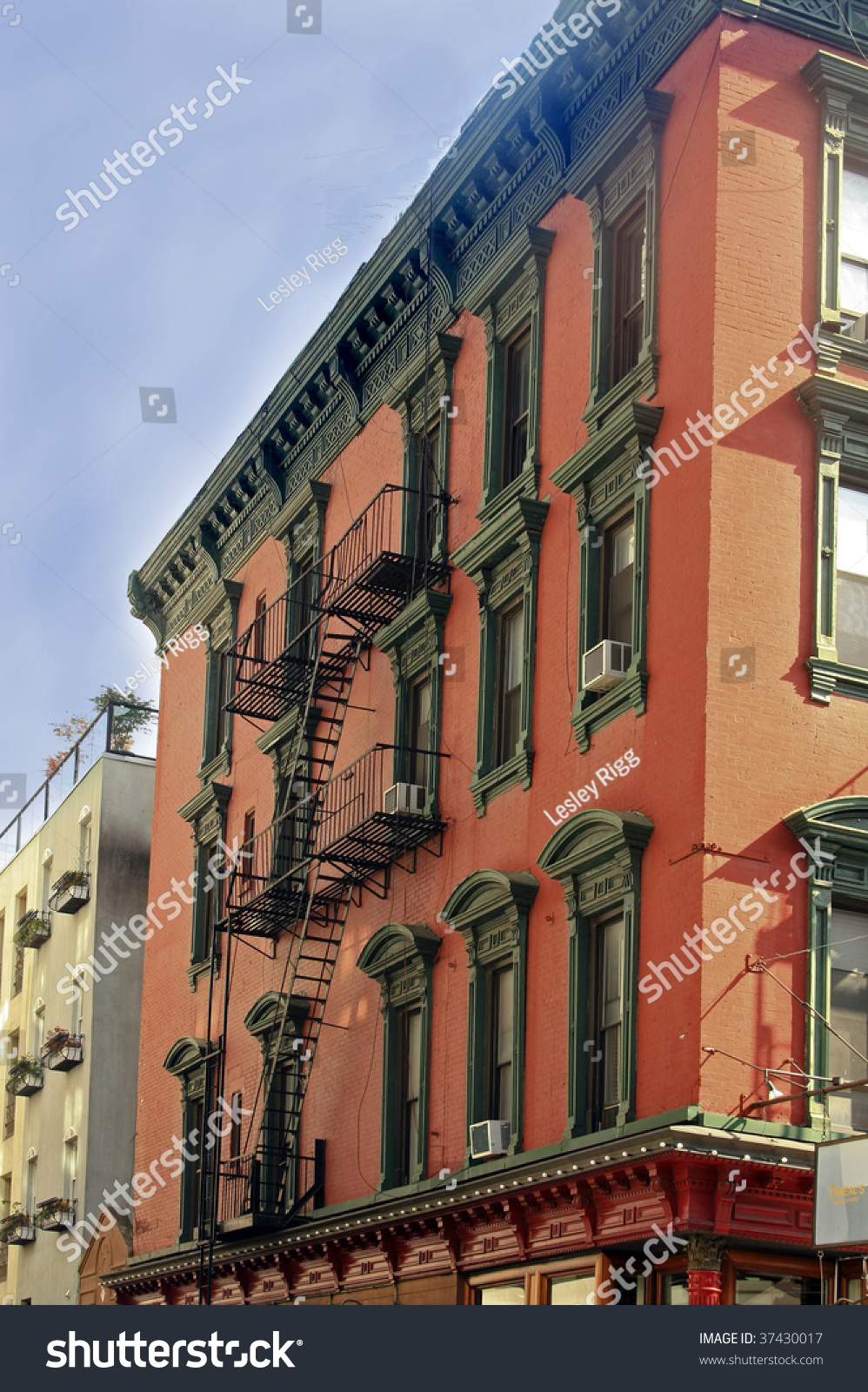 Traditional Colorful Homes In Little Italy New York City