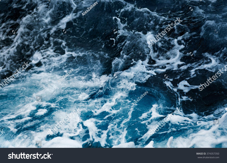 Waves in ocean Splashing Waves #374357350