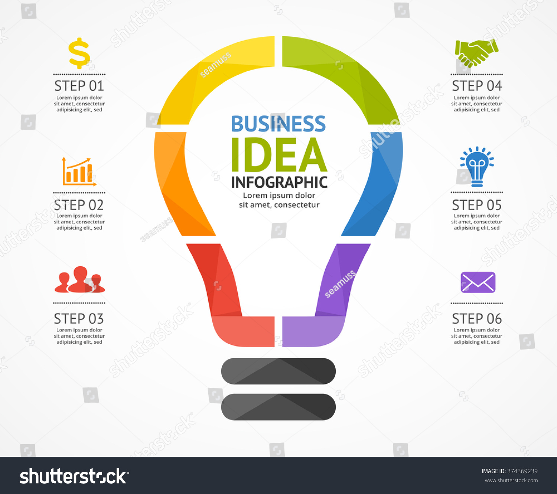 Light Process Company: Vector Light Bulb Infographic Template Circle Stock Vector