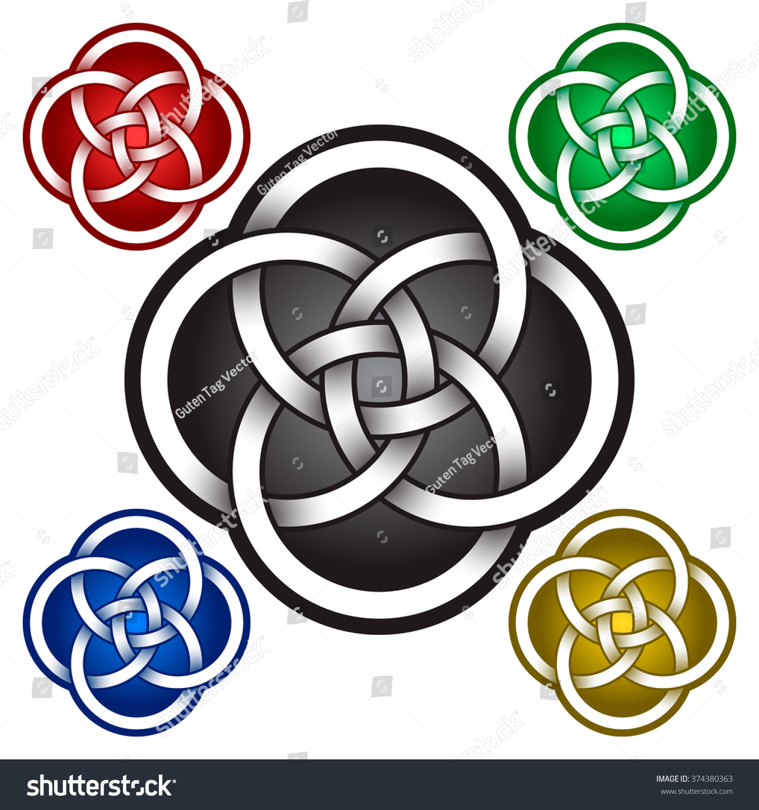 Circular Logo Template Celtic Knots Style Stock Vector Royalty Free