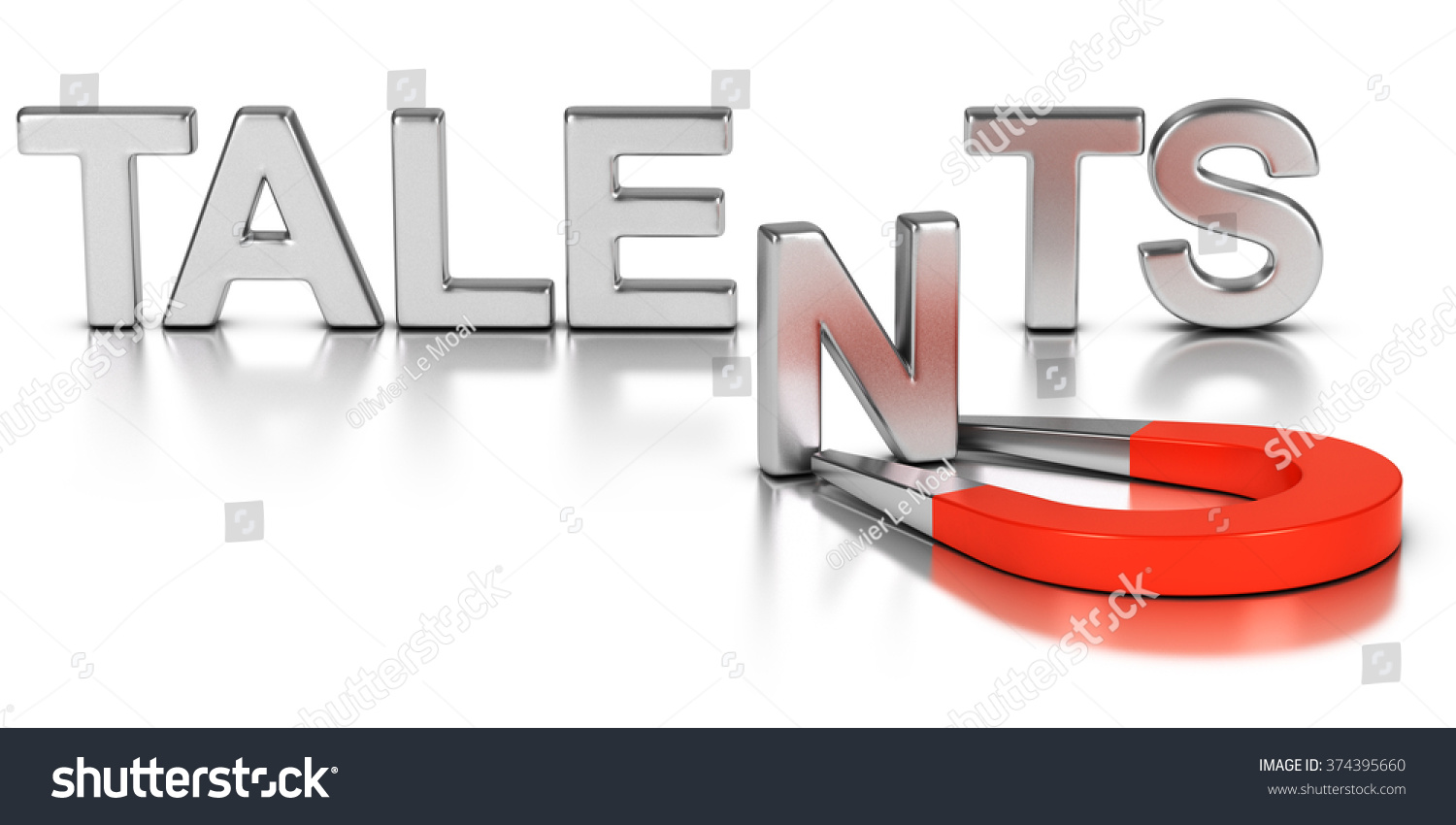 Talent Acquisition Il Ration Concept Letter N Of The Word Talents Attracted And Retained By A
