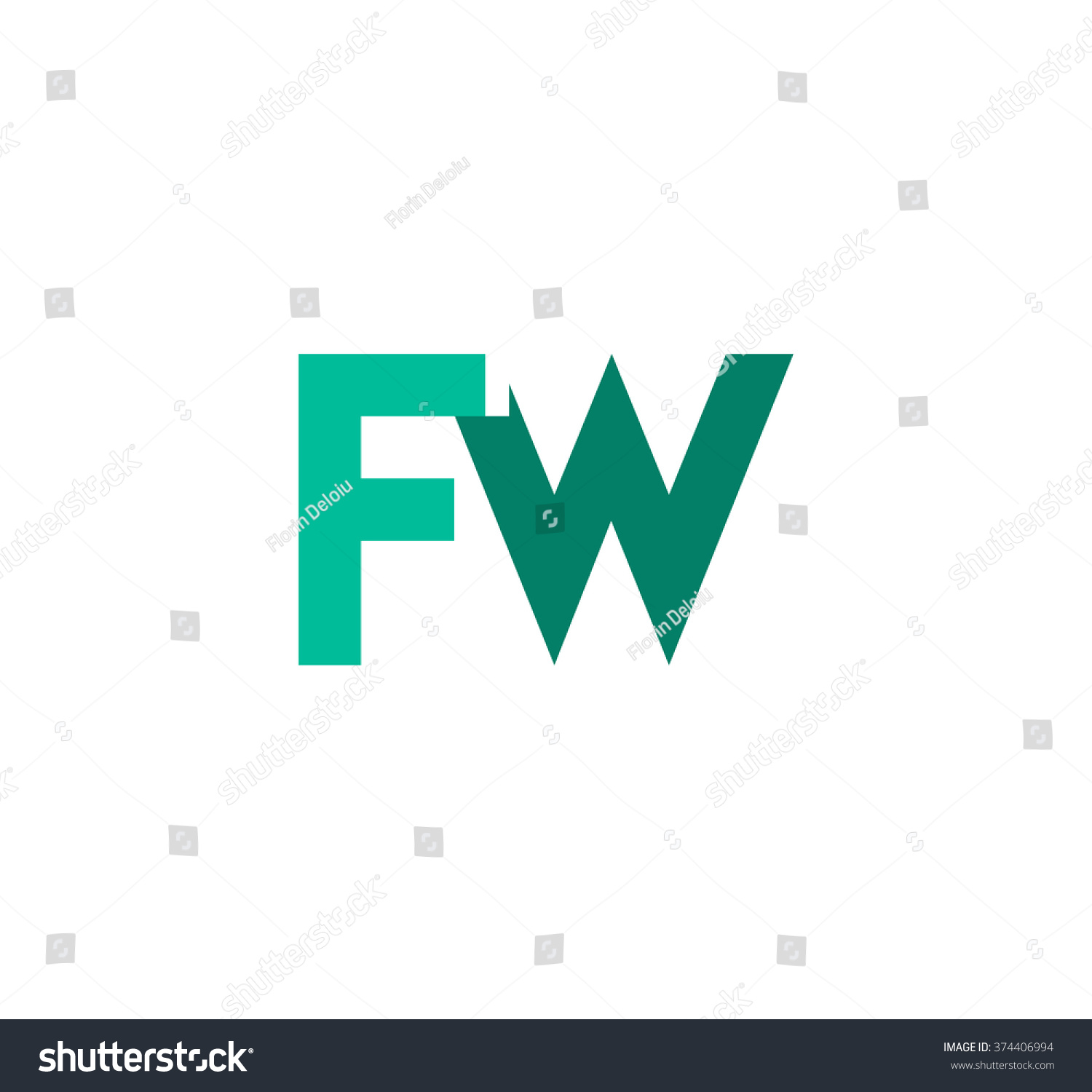 Fw Logo Stock Vector 374406994