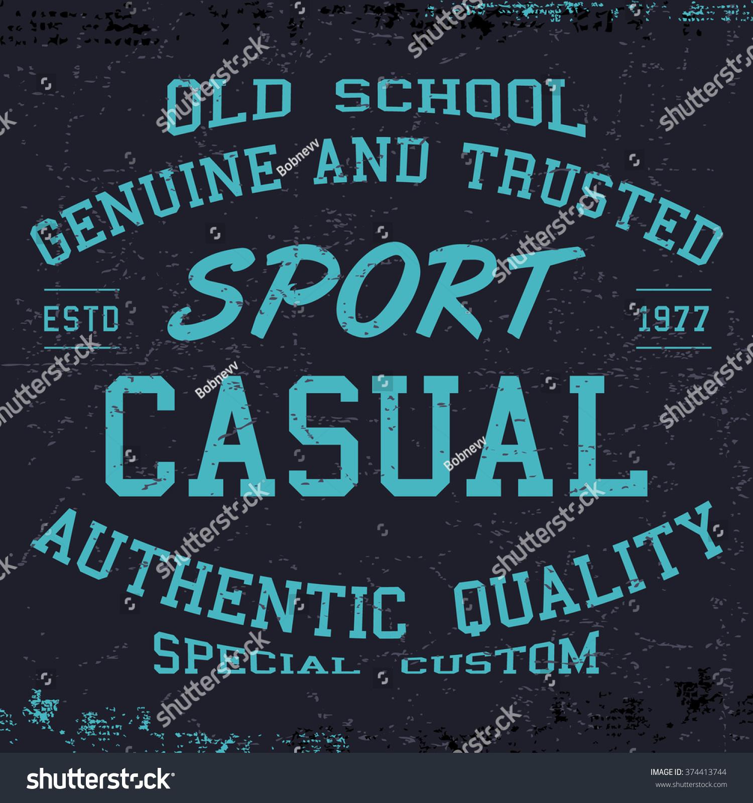 Design t shirt label - T Shirt Print Design Sport Casual Vintage Poster Printing And Badge Applique Label