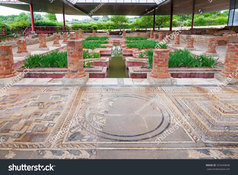 Roman Domus Fountains View Interior Garden Stock Photo 374449048  Shutterstock