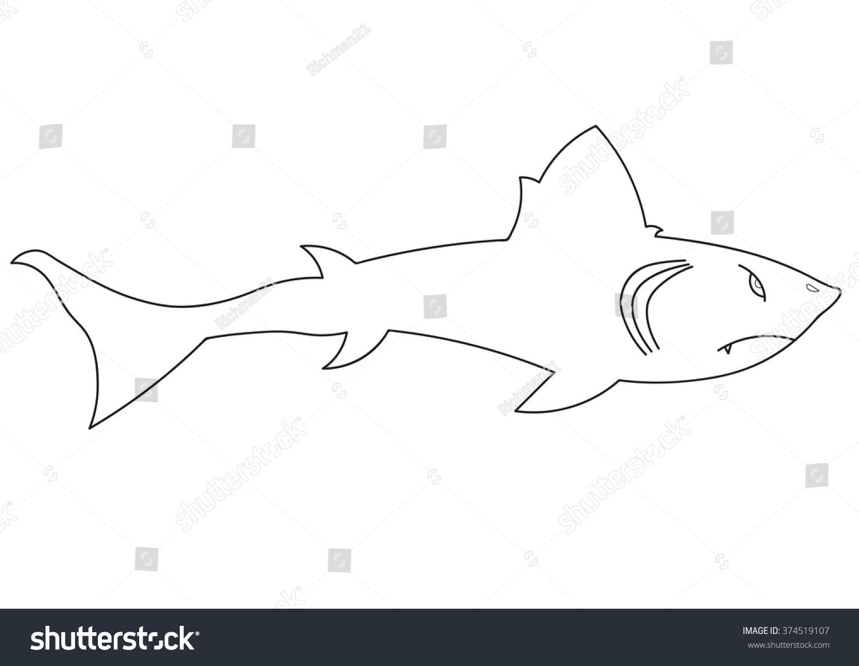 illustration cartoon shark childrens book stock vector 374519107