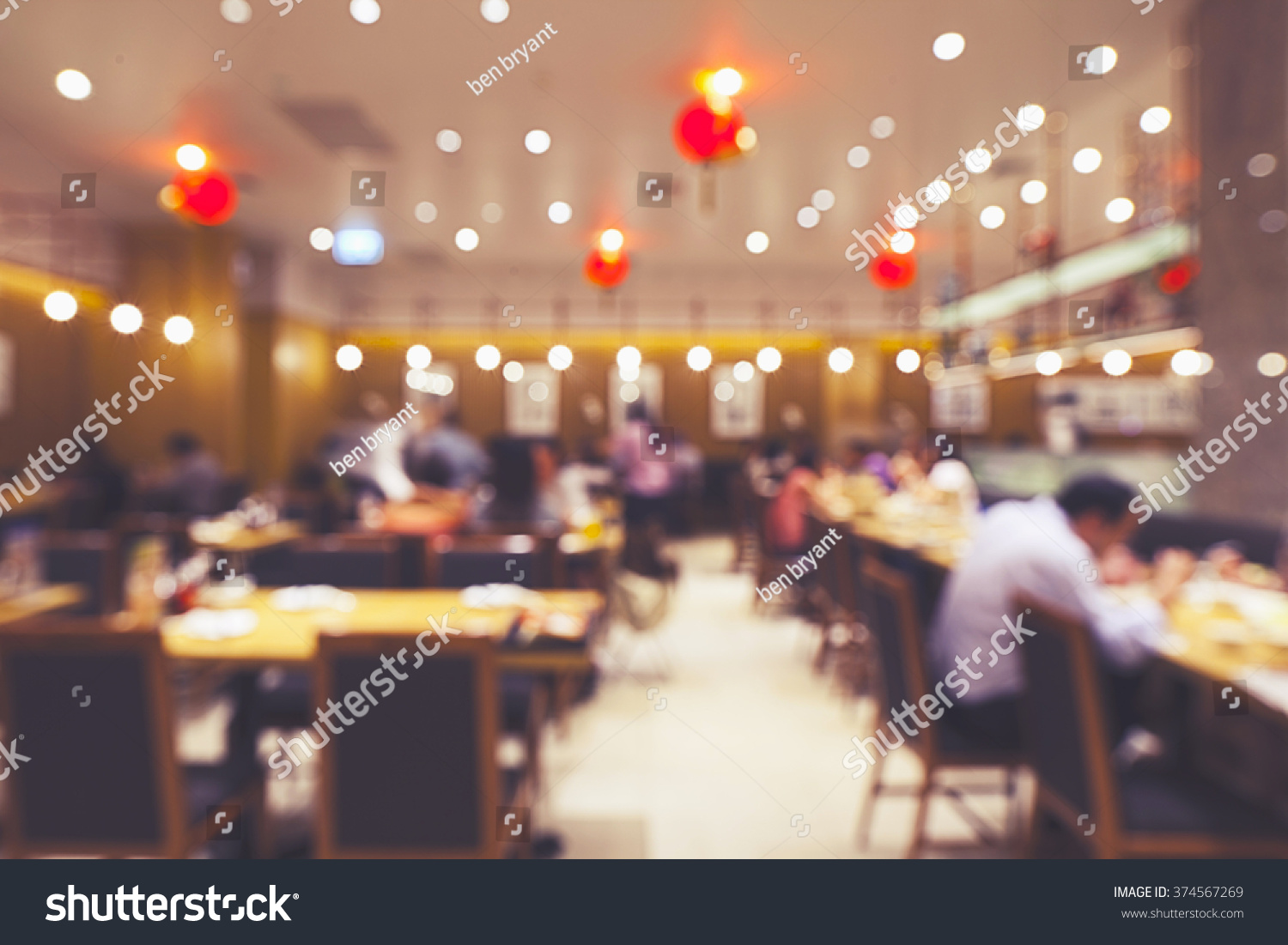 Restaurant Background With People Chinese Restaurant Blur Background Bokeh Image Stock Photo