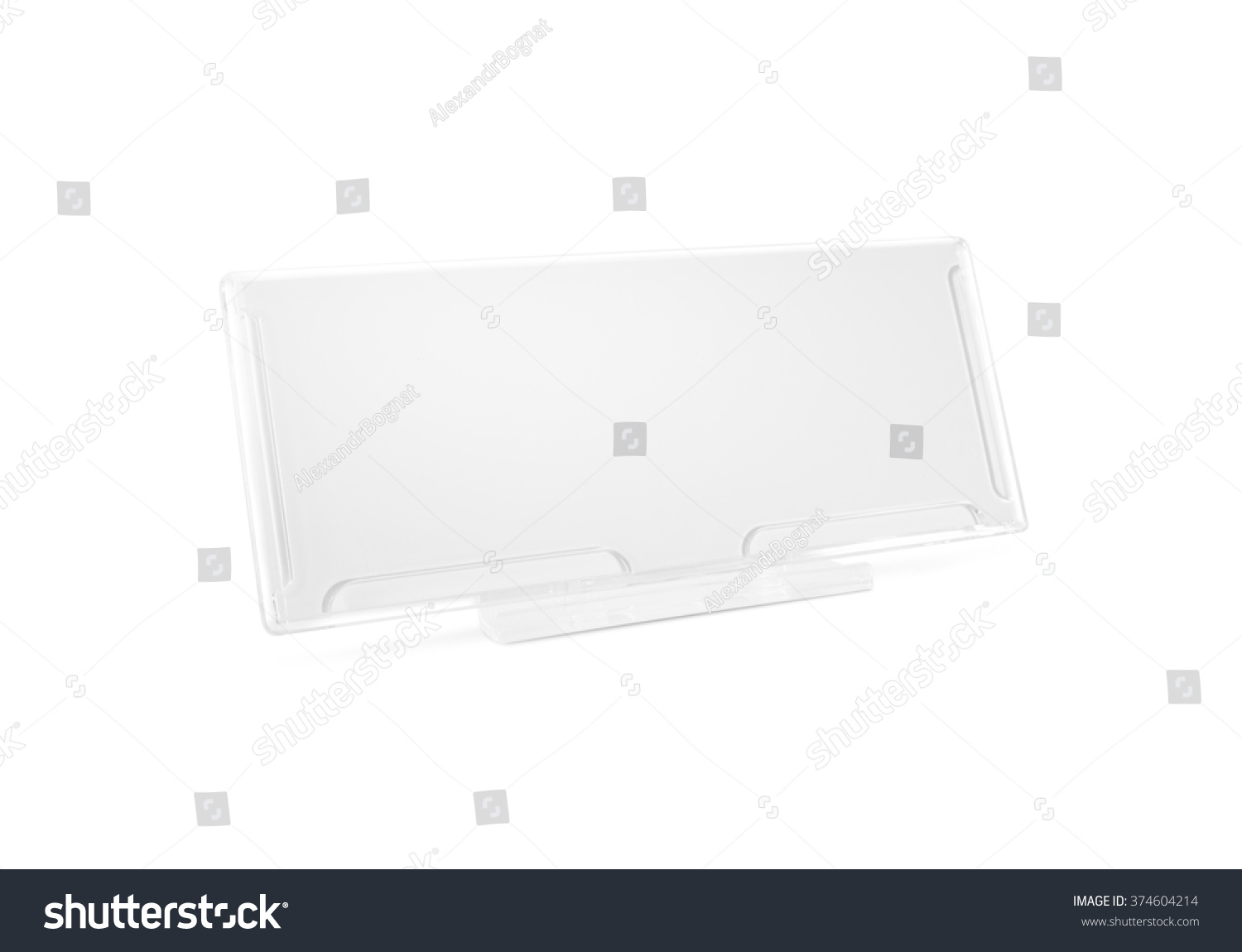 Plastic Paper Holder Mock Stand On Stock Photo Royalty Free